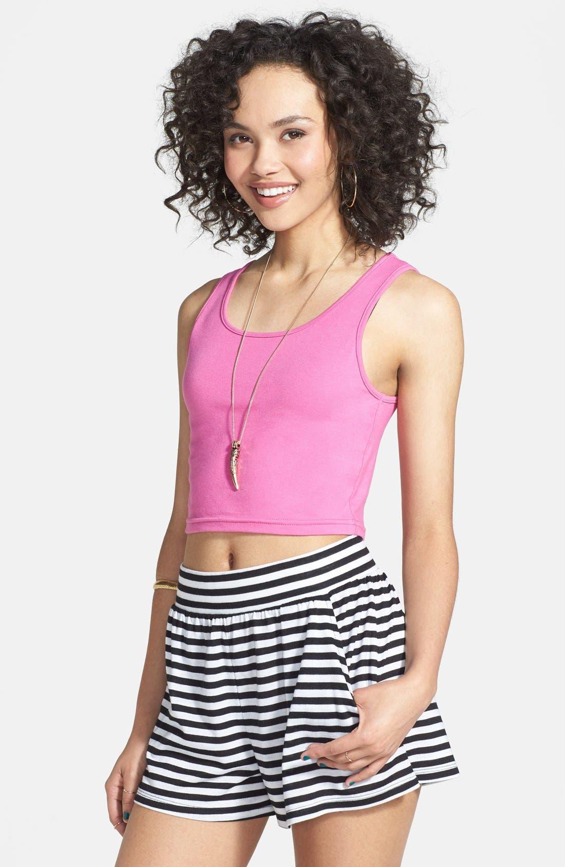 Alternate Image 1 Selected - Rubbish® Knit Shorts (Juniors)