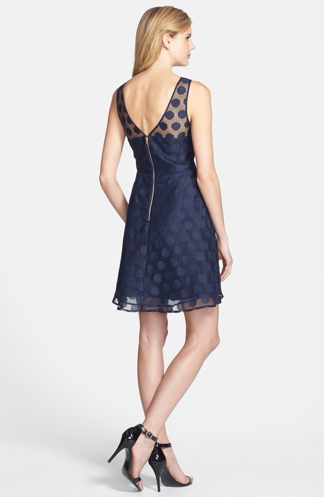 Alternate Image 3  - Betsey Johnson 'Ivory' Polka Dot Mesh Fit & Flare Dress