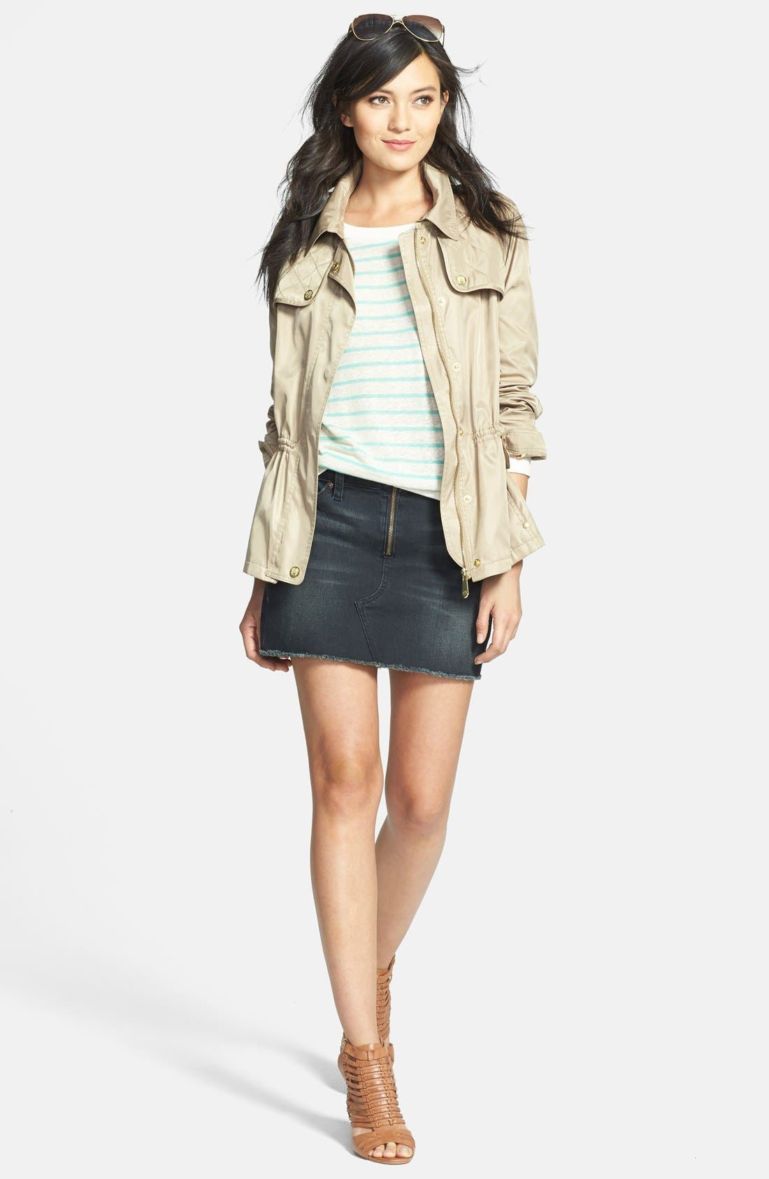 Alternate Image 4  - Vince Camuto Quilt Detail Short Anorak