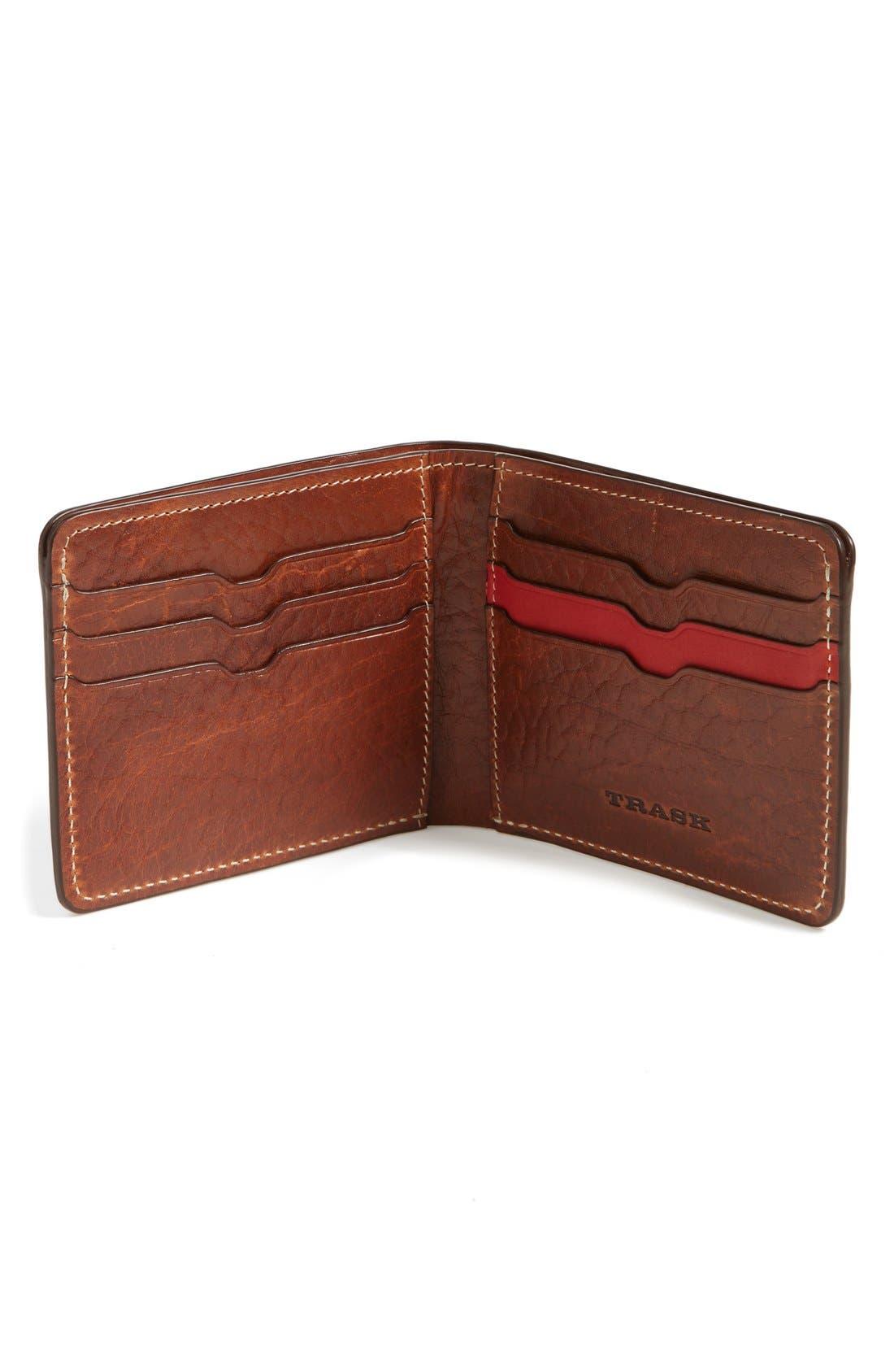 Alternate Image 2  - Trask 'Jackson' Bison Leather Wallet