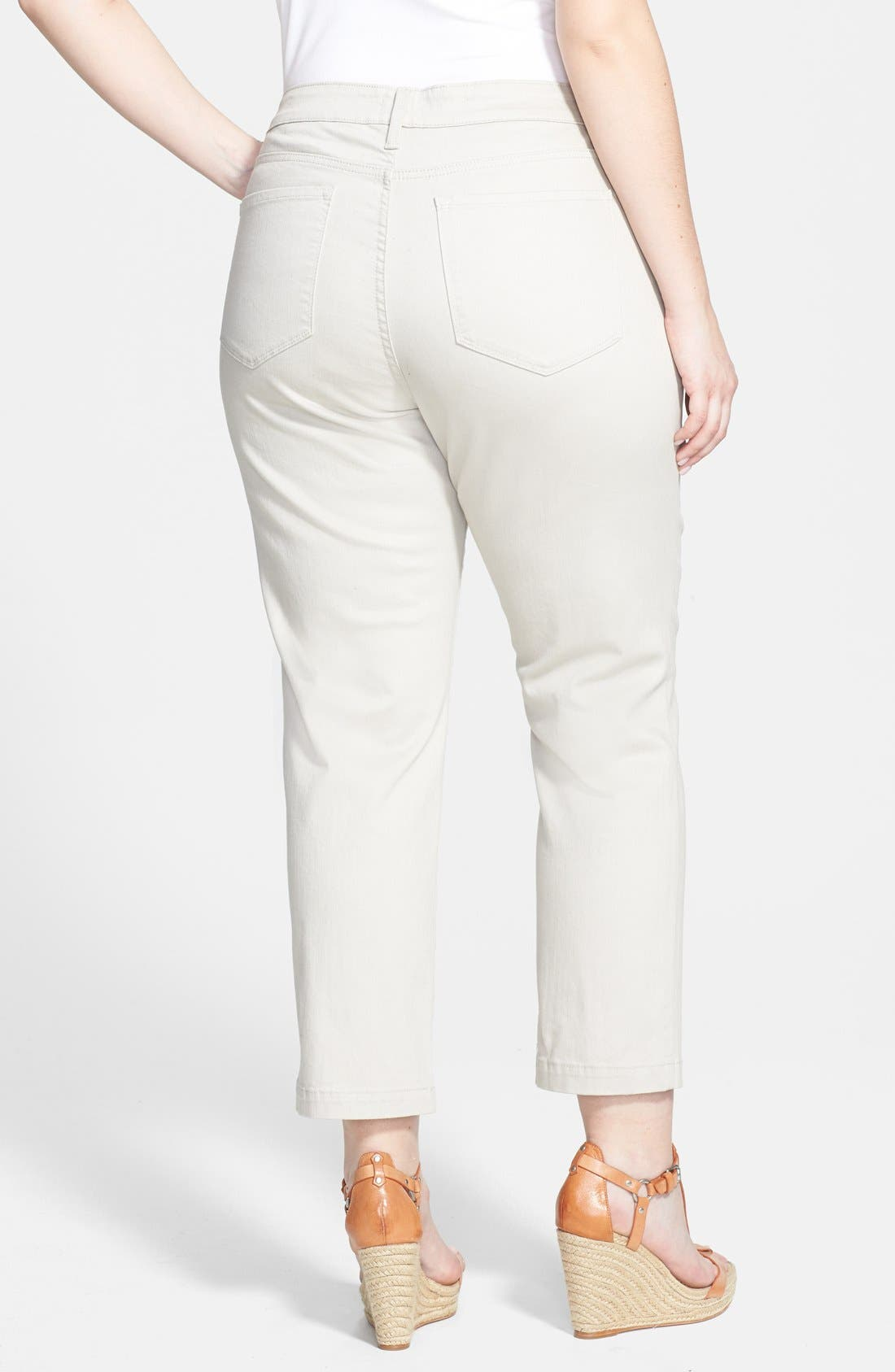 Alternate Image 2  - NYDJ 'Audrey' Stretch Ankle Straight Leg Pants (Plus Size)
