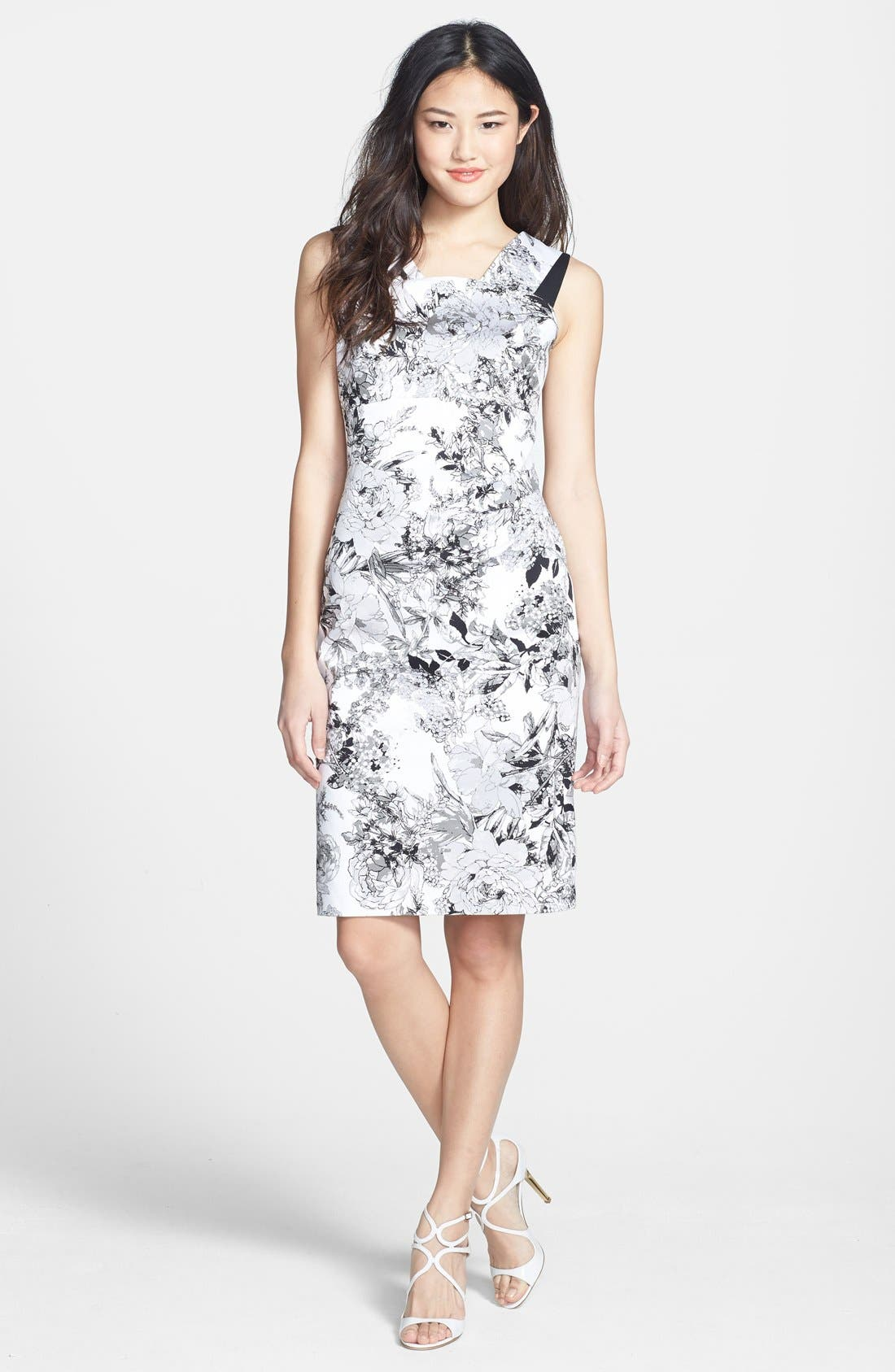 Alternate Image 3  - Adrianna Papell Print Sheath Dress