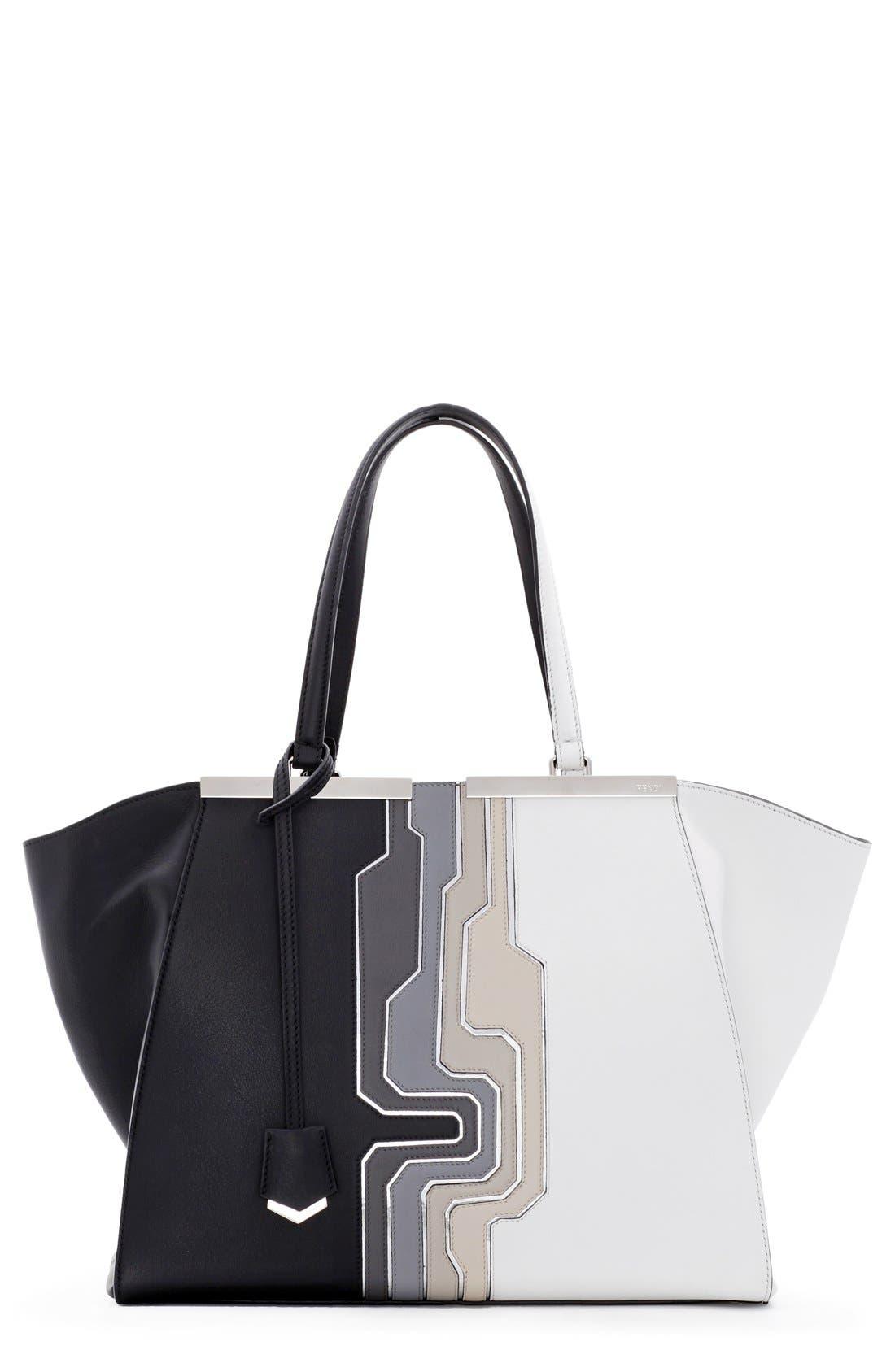 Main Image - Fendi '3Jours - Computer' Leather Shopper