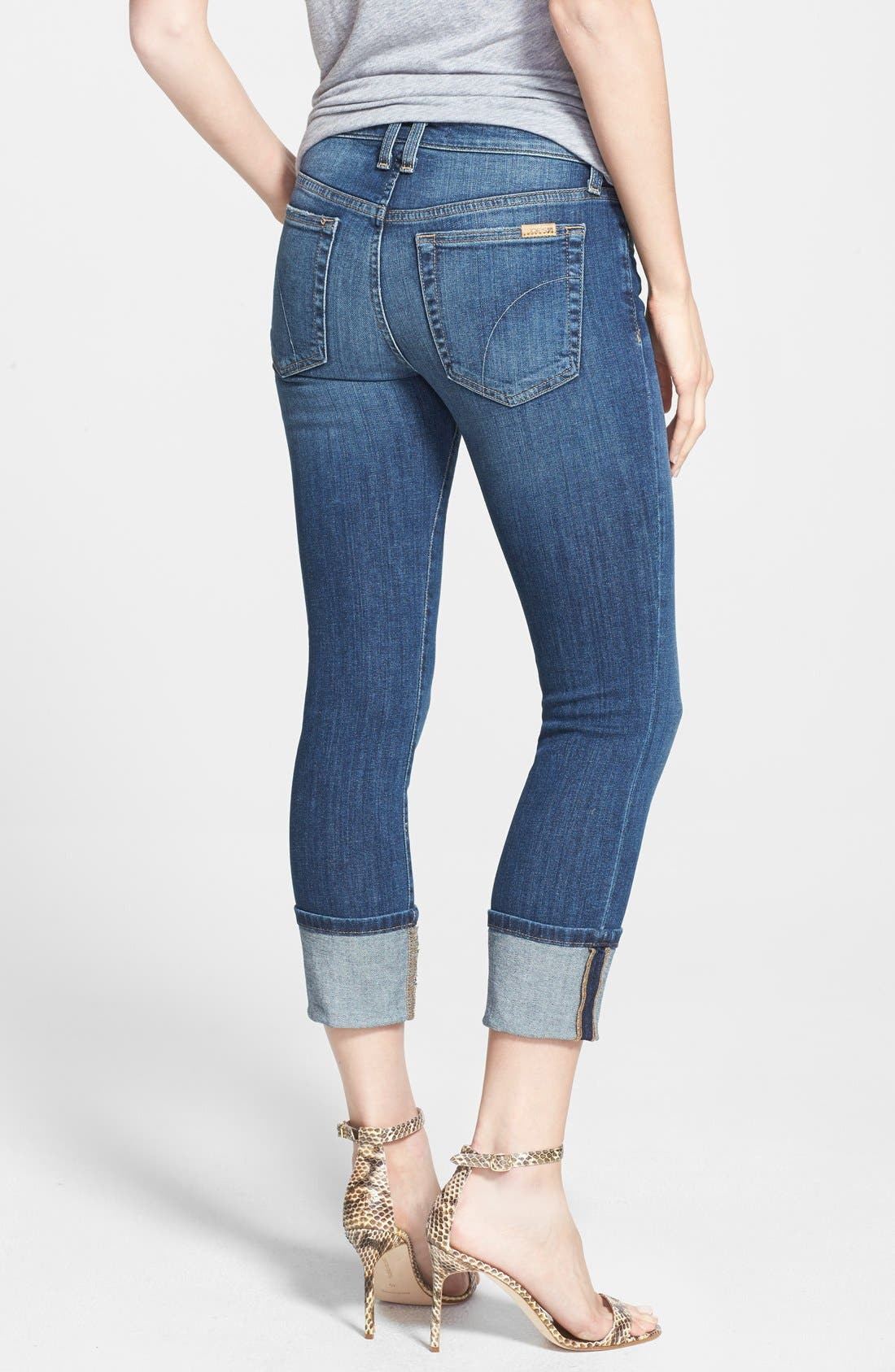 Alternate Image 3  - Joe's Crop Skinny Jeans (Judi)