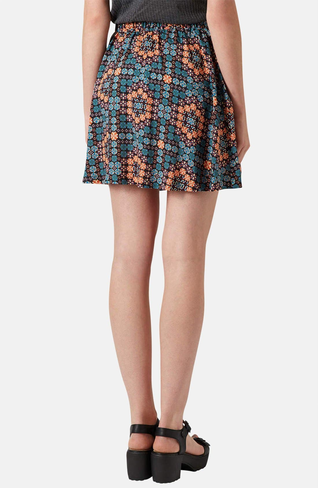 Alternate Image 2  - Topshop 'Milly' Tile Print Skirt