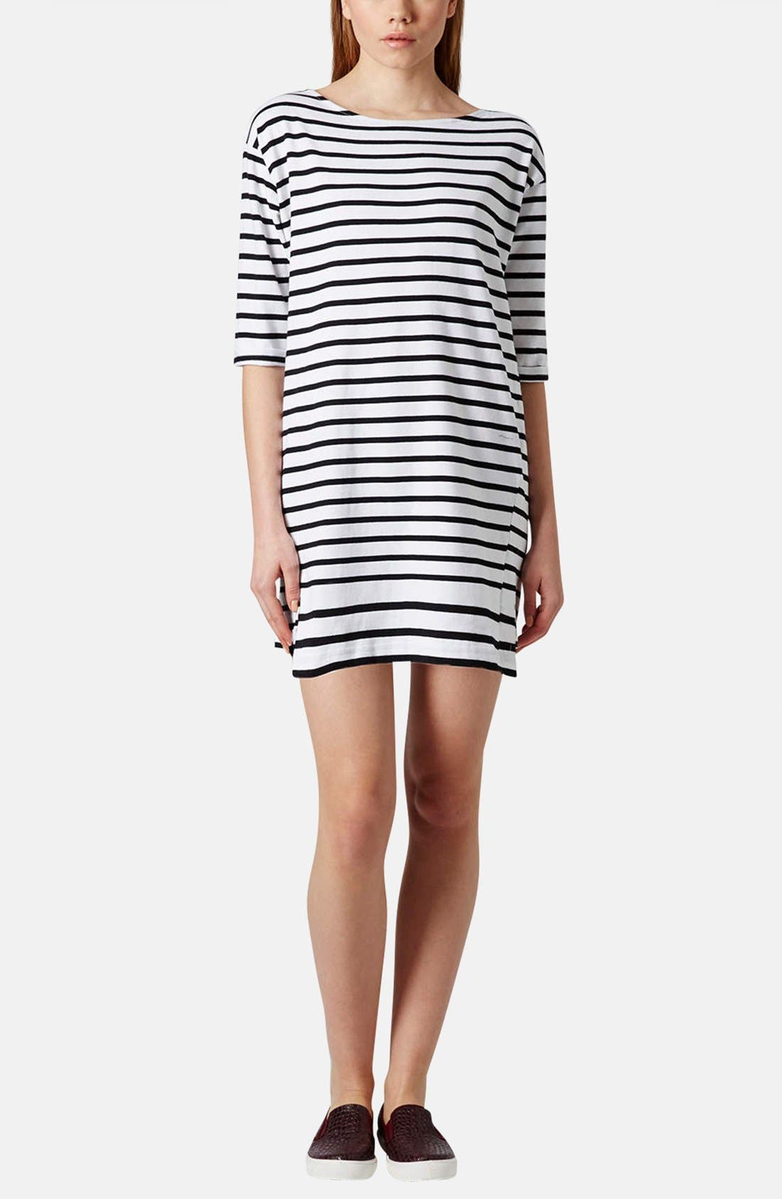 Alternate Image 5  - Topshop Stripe Cotton Tunic Dress (Petite)