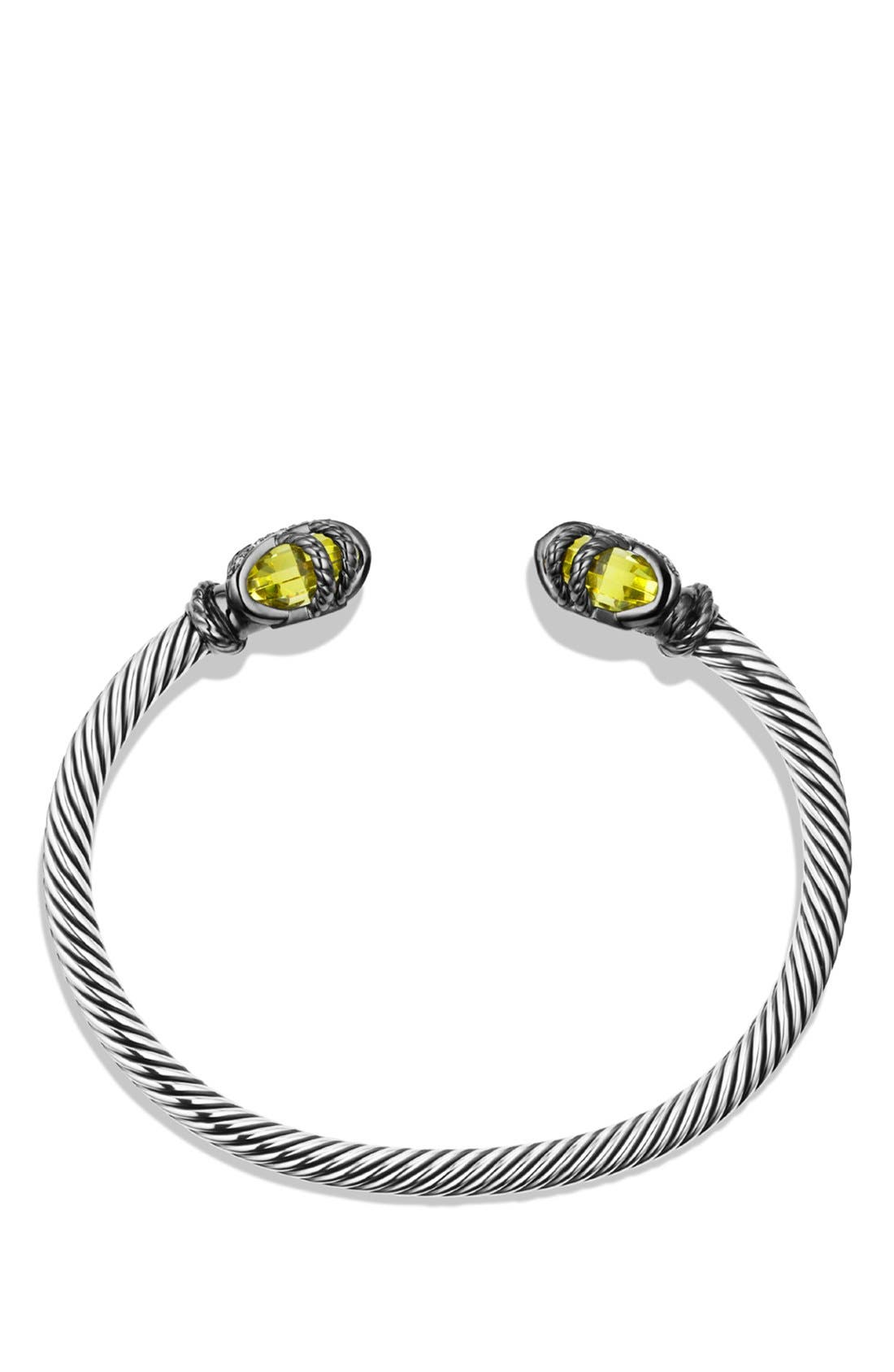 Alternate Image 2  - David Yurman 'Cable Wrap' Bracelet with Lemon Citrine and Diamonds
