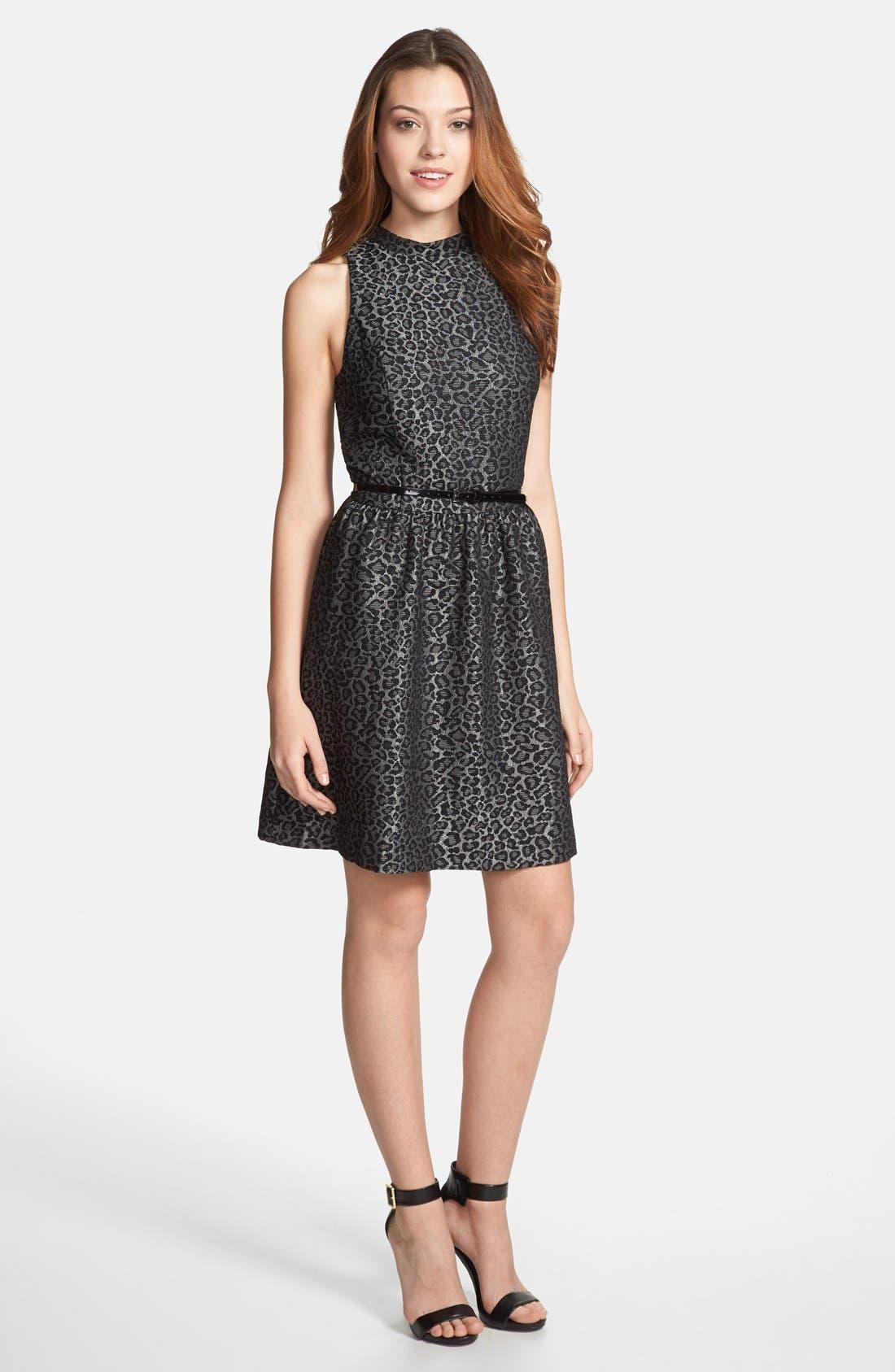 Alternate Image 1 Selected - kensie Animal Brocade Sleeveless Dress