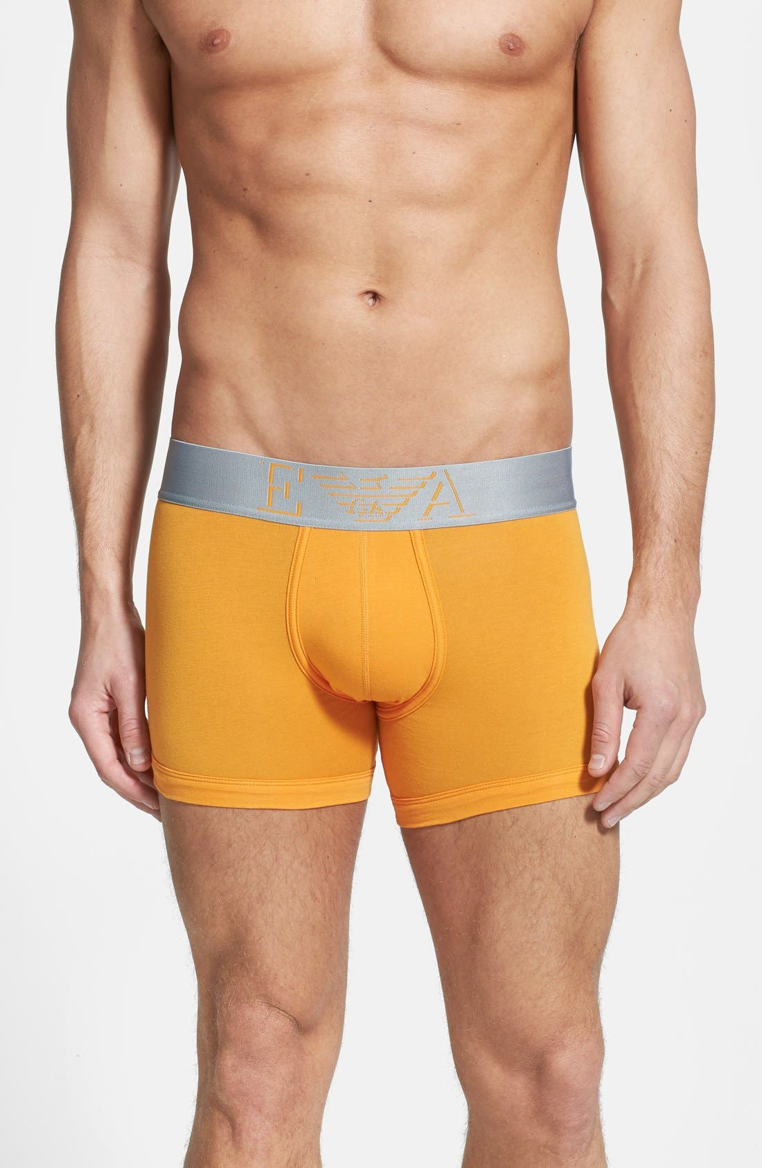Alternate Image 1 Selected - Emporio Armani Stretch Cotton Trunks