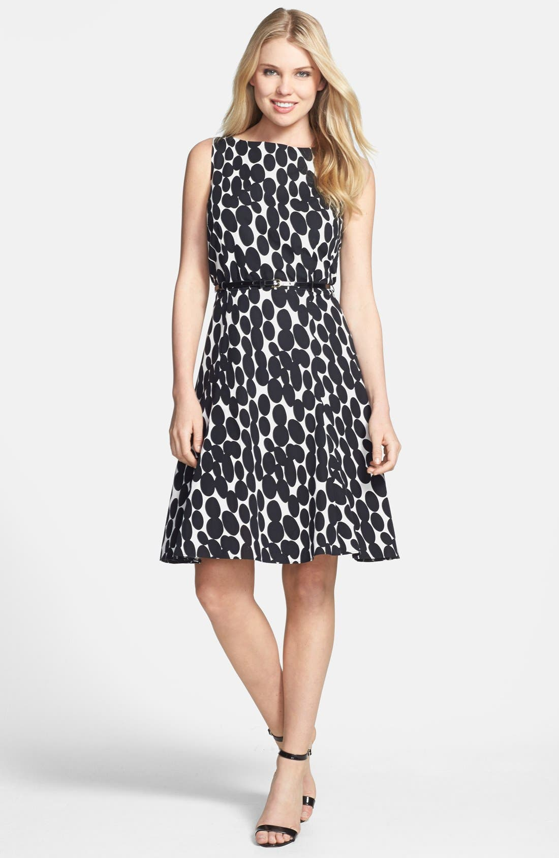 Alternate Image 1 Selected - Wallis 'Oval Spots' Fit & Flare Dress
