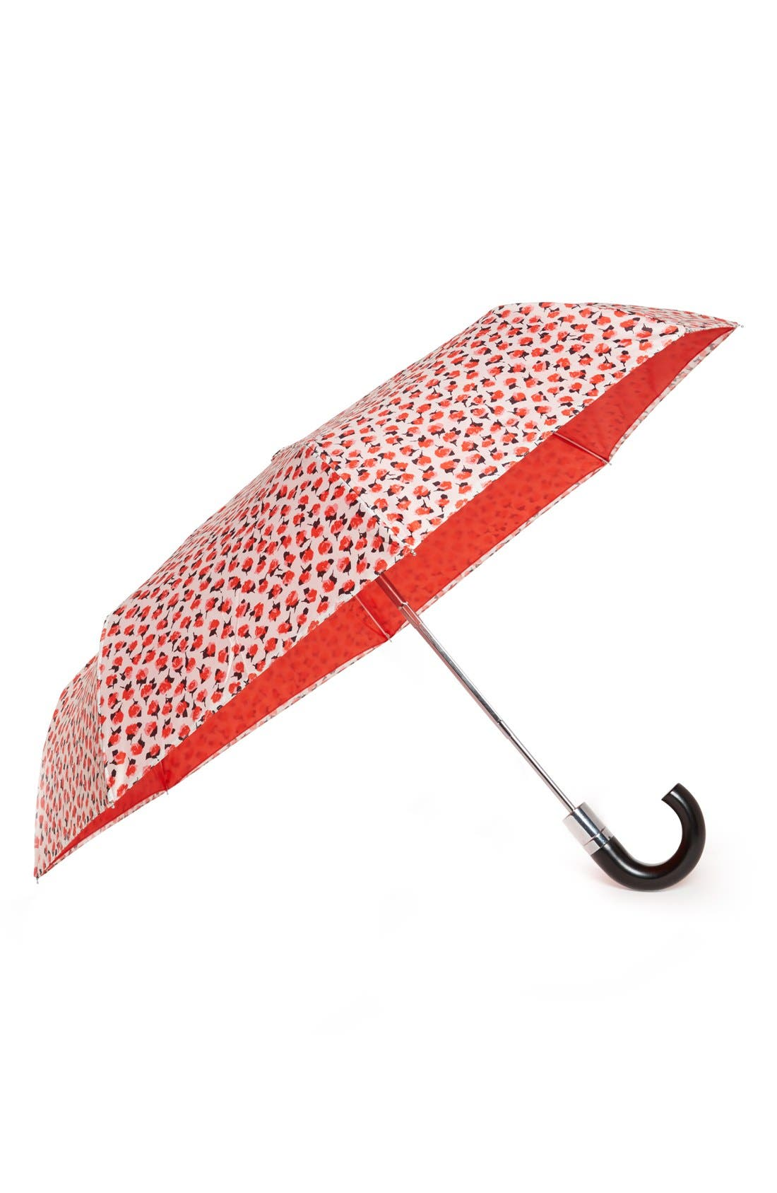 Alternate Image 1 Selected - kate spade new york 'roses' travel umbrella