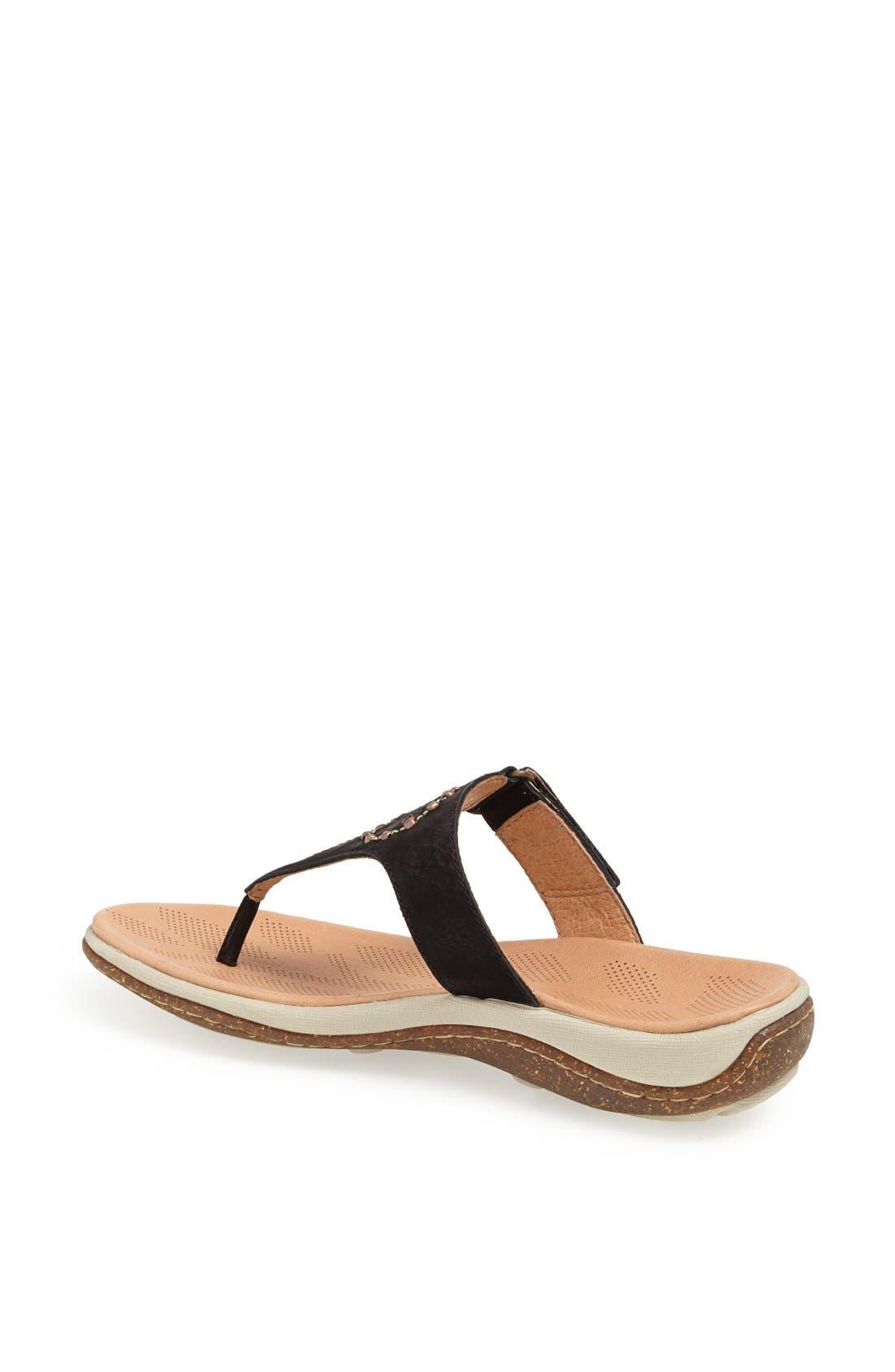 Alternate Image 2  - Acorn 'Vista' Beaded Thong Sandal