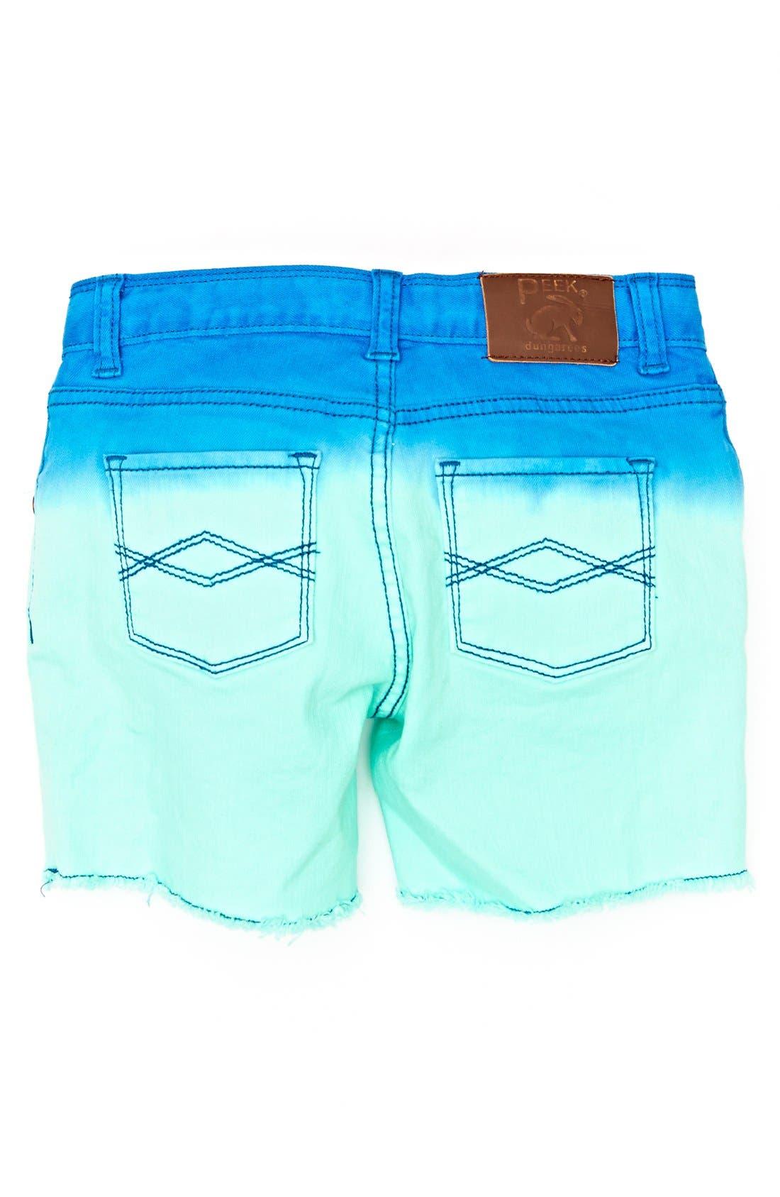 Main Image - Peek 'Griffin' Dip Dye Shorts (Toddler Girls, Little Girls & Big Girls)