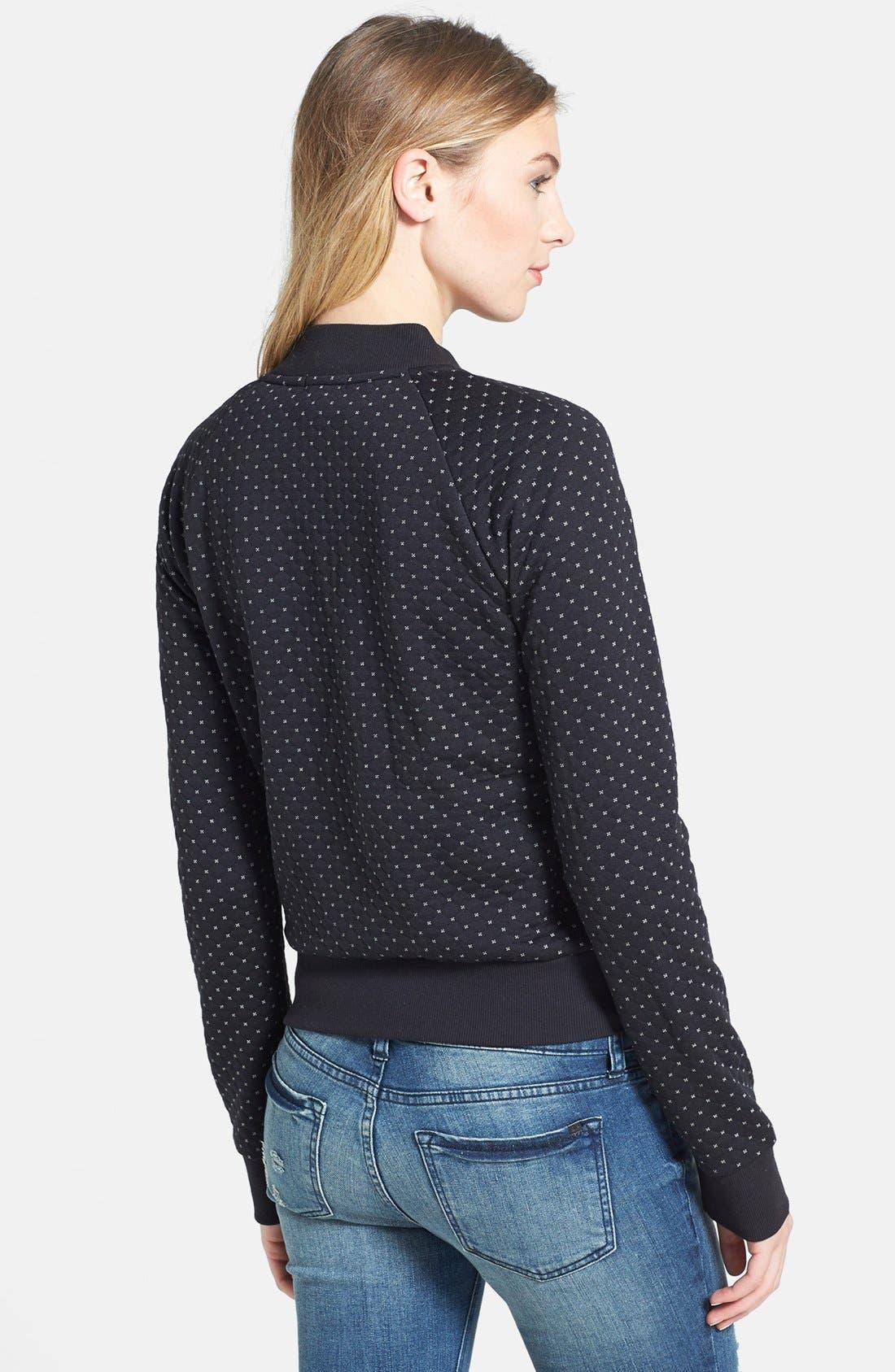 Alternate Image 2  - Caslon® Quilted Print Knit Jacket (Petite)