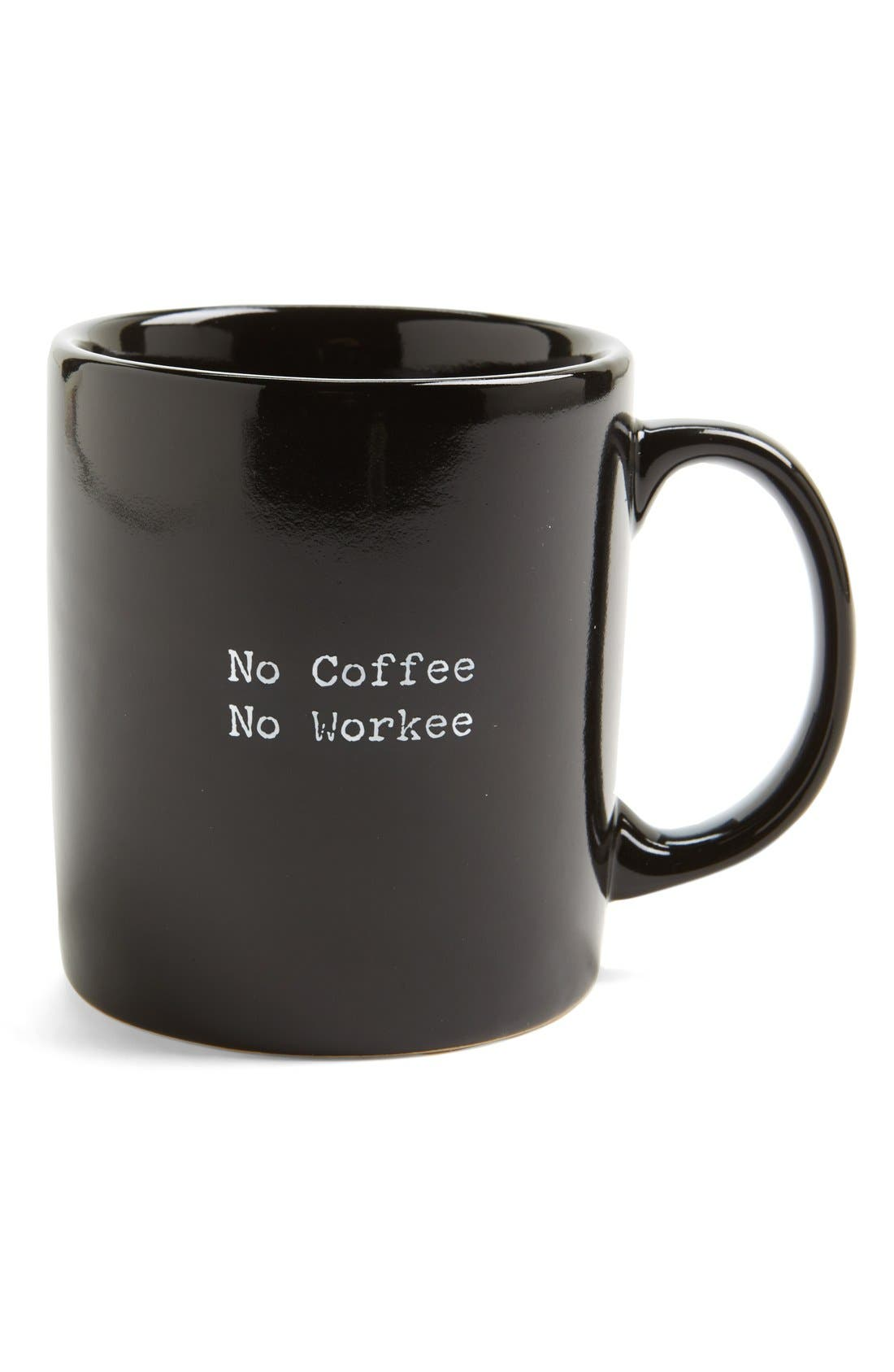 Alternate Image 1 Selected - Trash Talk by Annie 'No Coffee No Workee' Mug