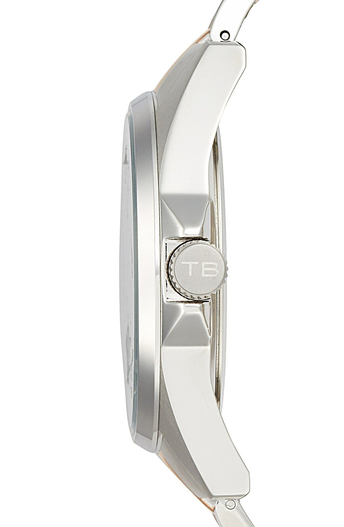 Alternate Image 3  - Ted Baker London Multifunction Two-Tone Bracelet Watch, 42mm