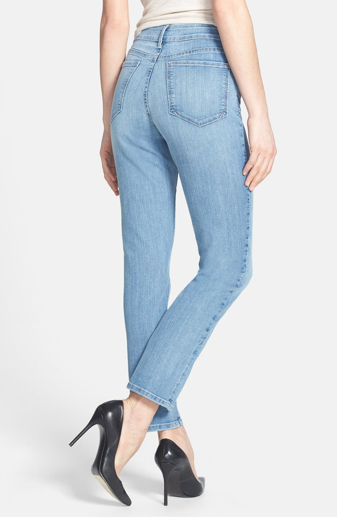 Alternate Image 2  - NYDJ 'Bobbie' Stretch Boyfriend Jeans (Aruba) (Regular & Petite)