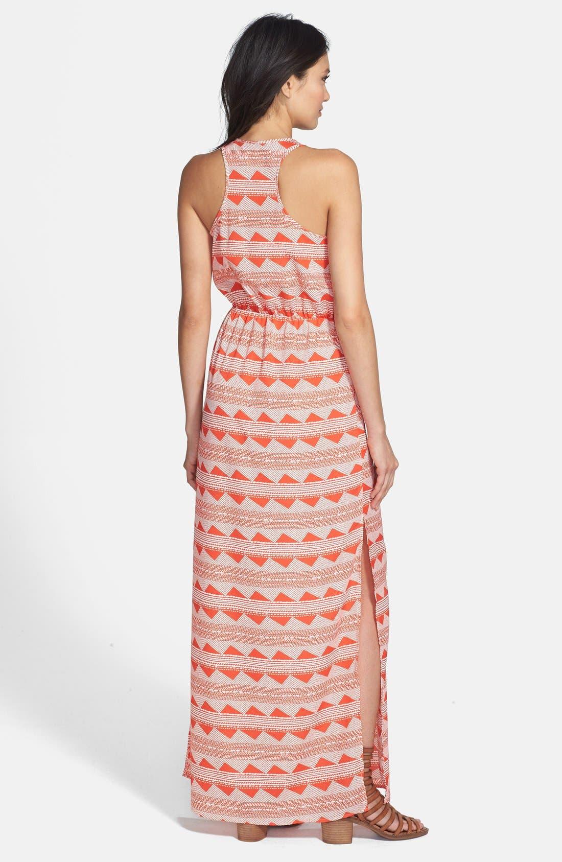 Alternate Image 2  - Wayf Print Racerback Maxi Dress