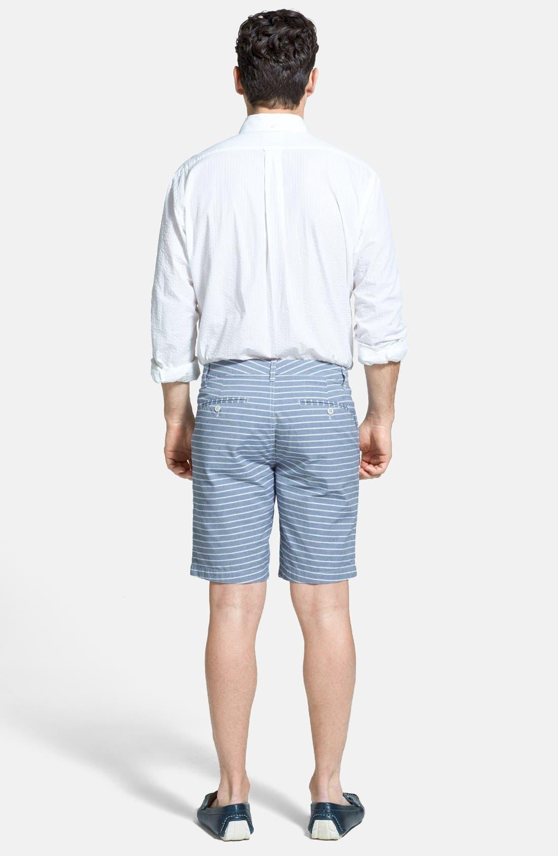 Alternate Image 5  - Façonnable Classic Fit Seersucker Sport Shirt (Tall)