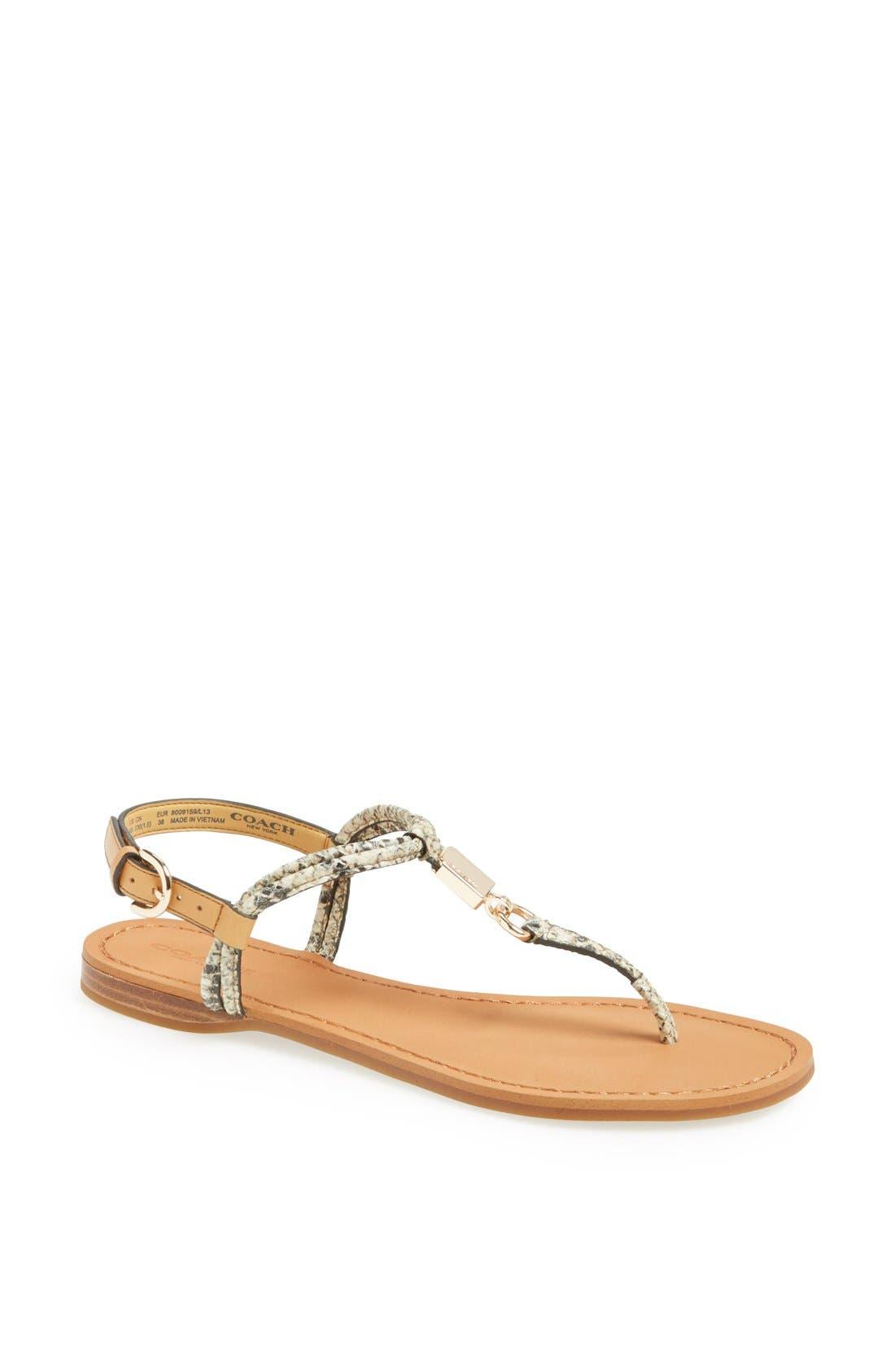 Main Image - COACH 'Charleen' Leather Thong Sandal