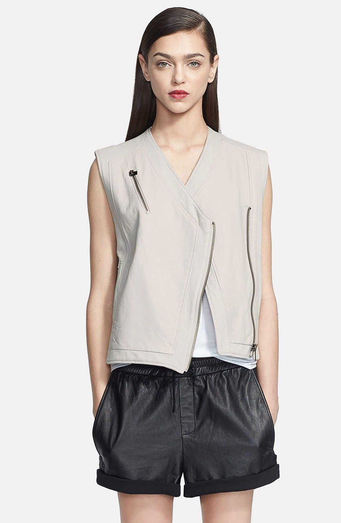 Alternate Image 2  - Helmut Lang Leather Vest & Shorts