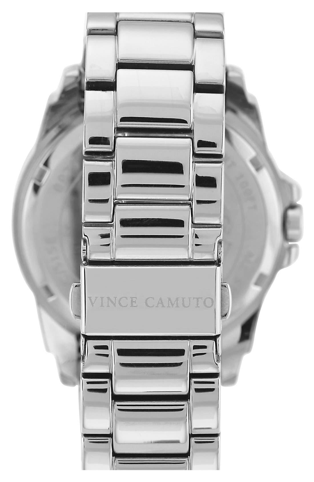Alternate Image 2  - Vince Camuto Crystal Bezel Multifunction Bracelet Watch, 43mm