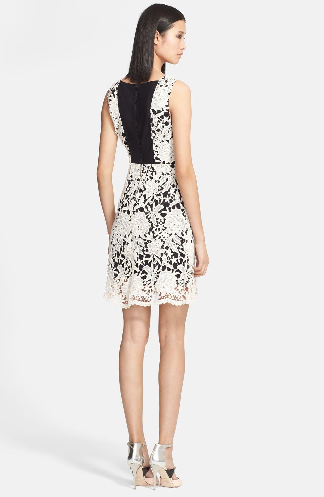 Alternate Image 2  - Alice + Olivia 'Jolie' Cotton Lace Dress