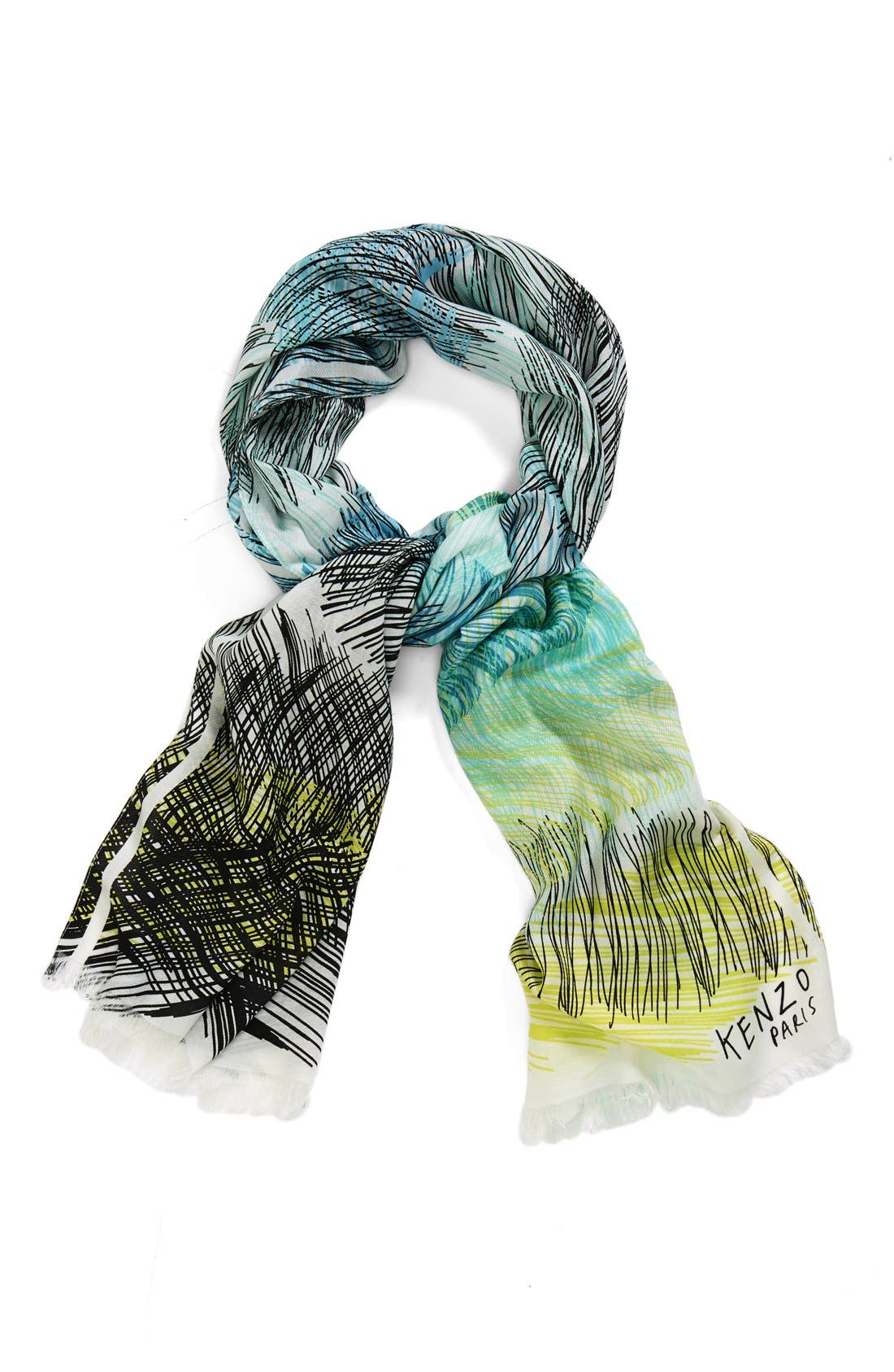 Main Image - KENZO 'Scribble Stripes' Scarf