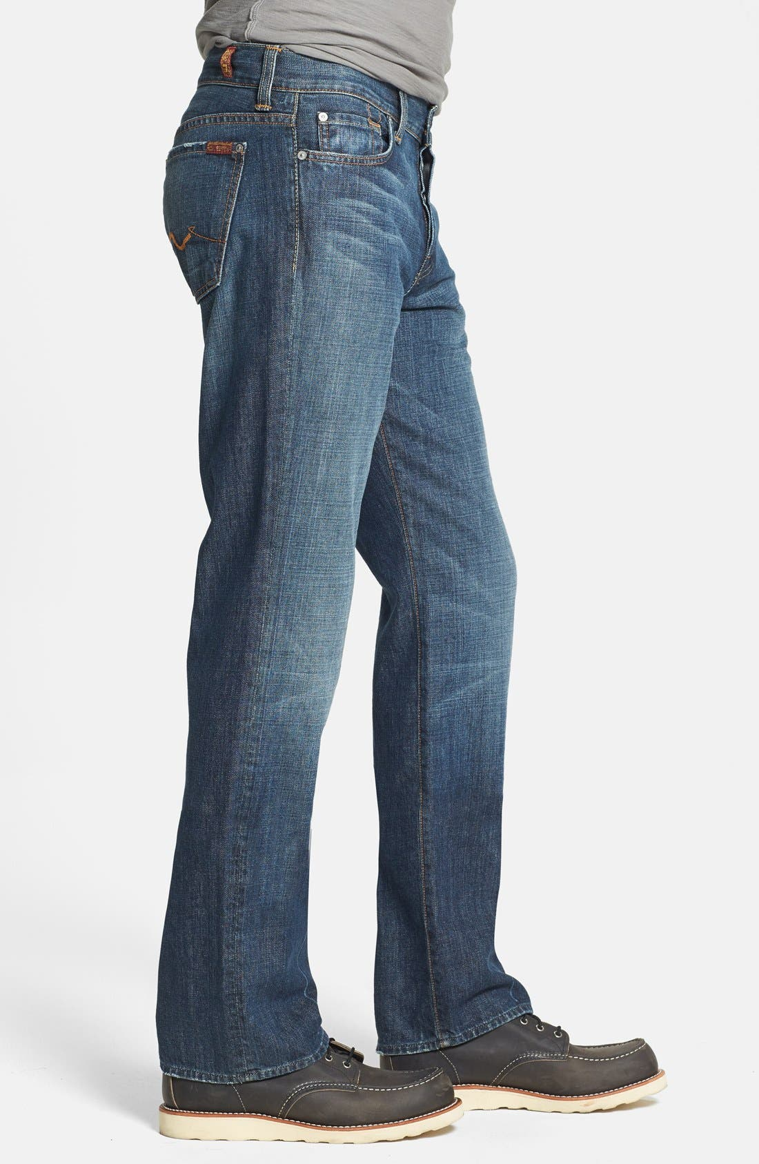 Alternate Image 3  - 7 For All Mankind® 'Standard' Classic Straight Leg Jeans (New York Dark)