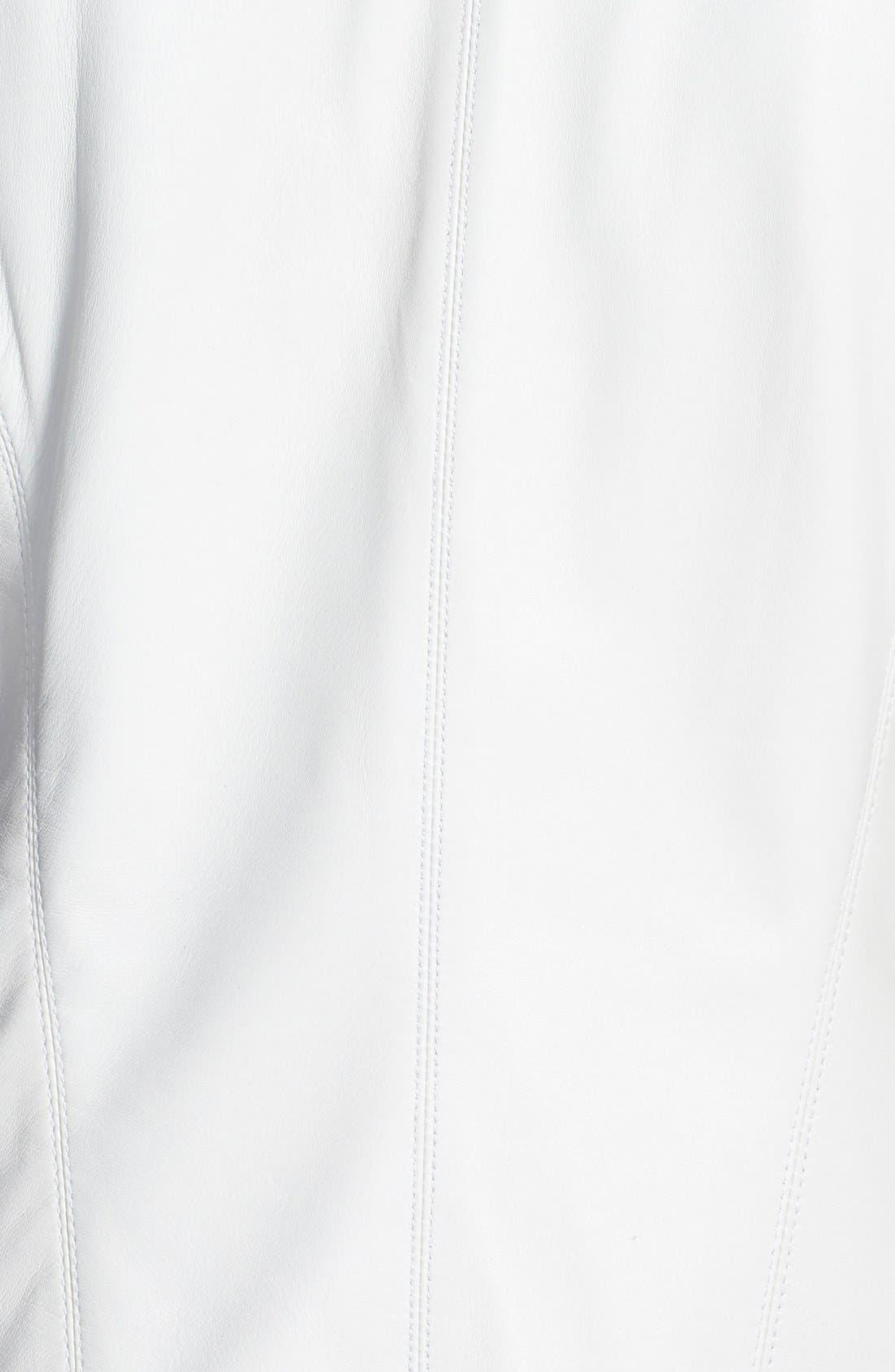 Alternate Image 3  - Laundry by Shelli Segal Two-Tone Leather Moto Jacket