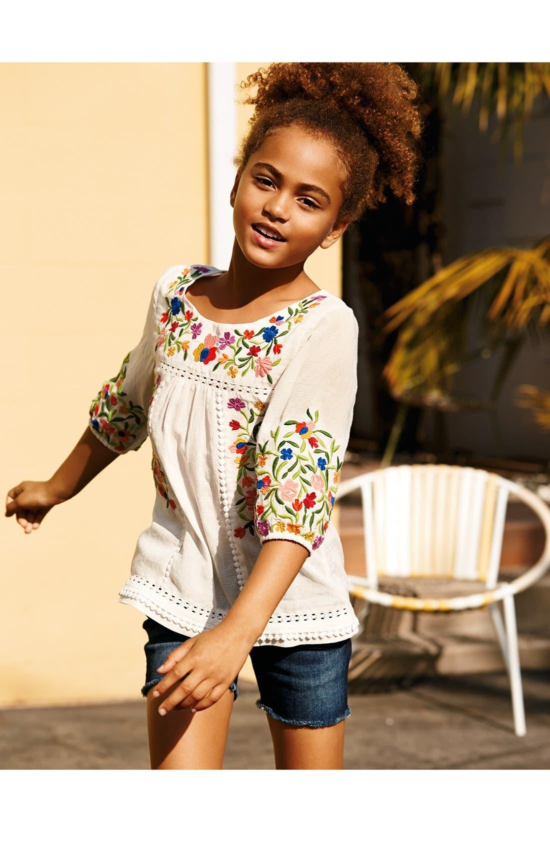 Alternate Image 3  - Peek 'Marin' Embroidered Peasant Top (Toddler Girls, Little Girls & Big Girls)