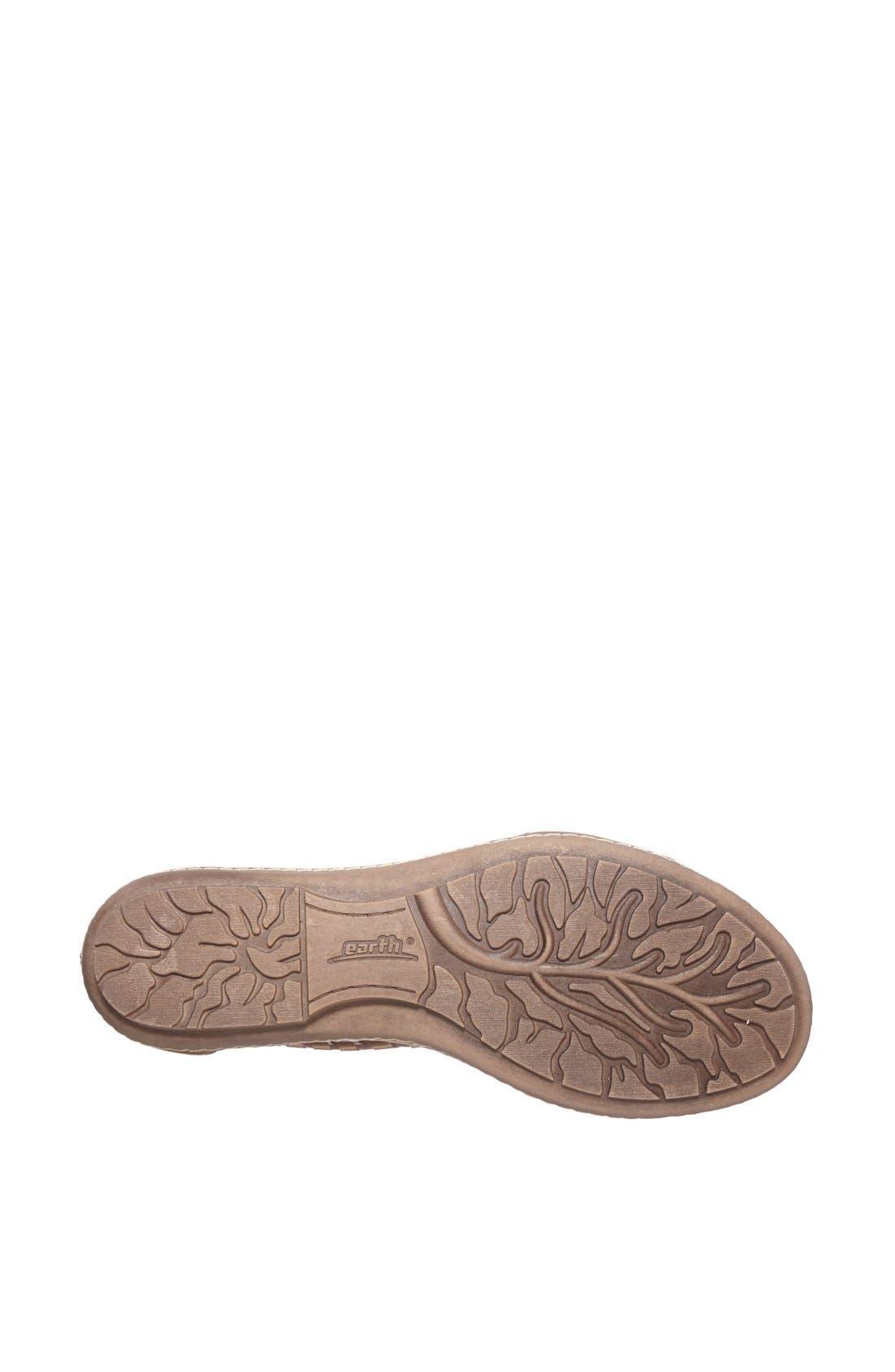 Alternate Image 4  - Earth® 'Shell' Cutout Leather Sandal