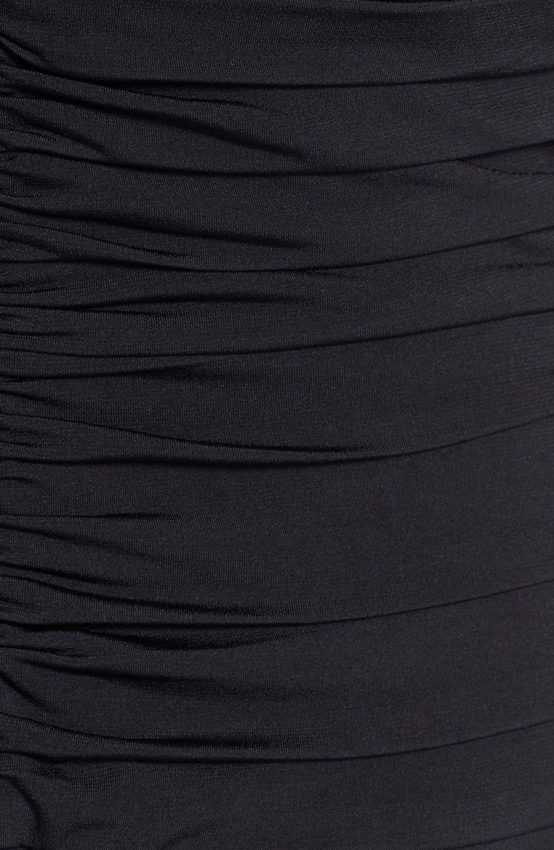 Alternate Image 3  - Tadashi Shoji Twist Front Jersey V-Neck Gown