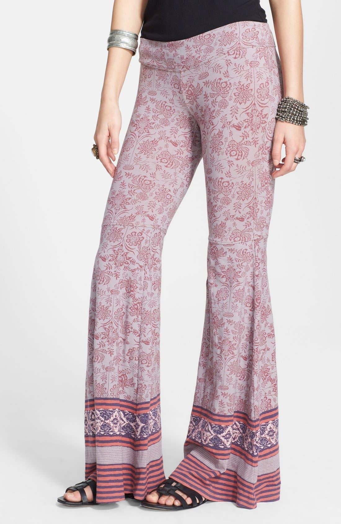 Main Image - Free People Print Flare Leg Pants