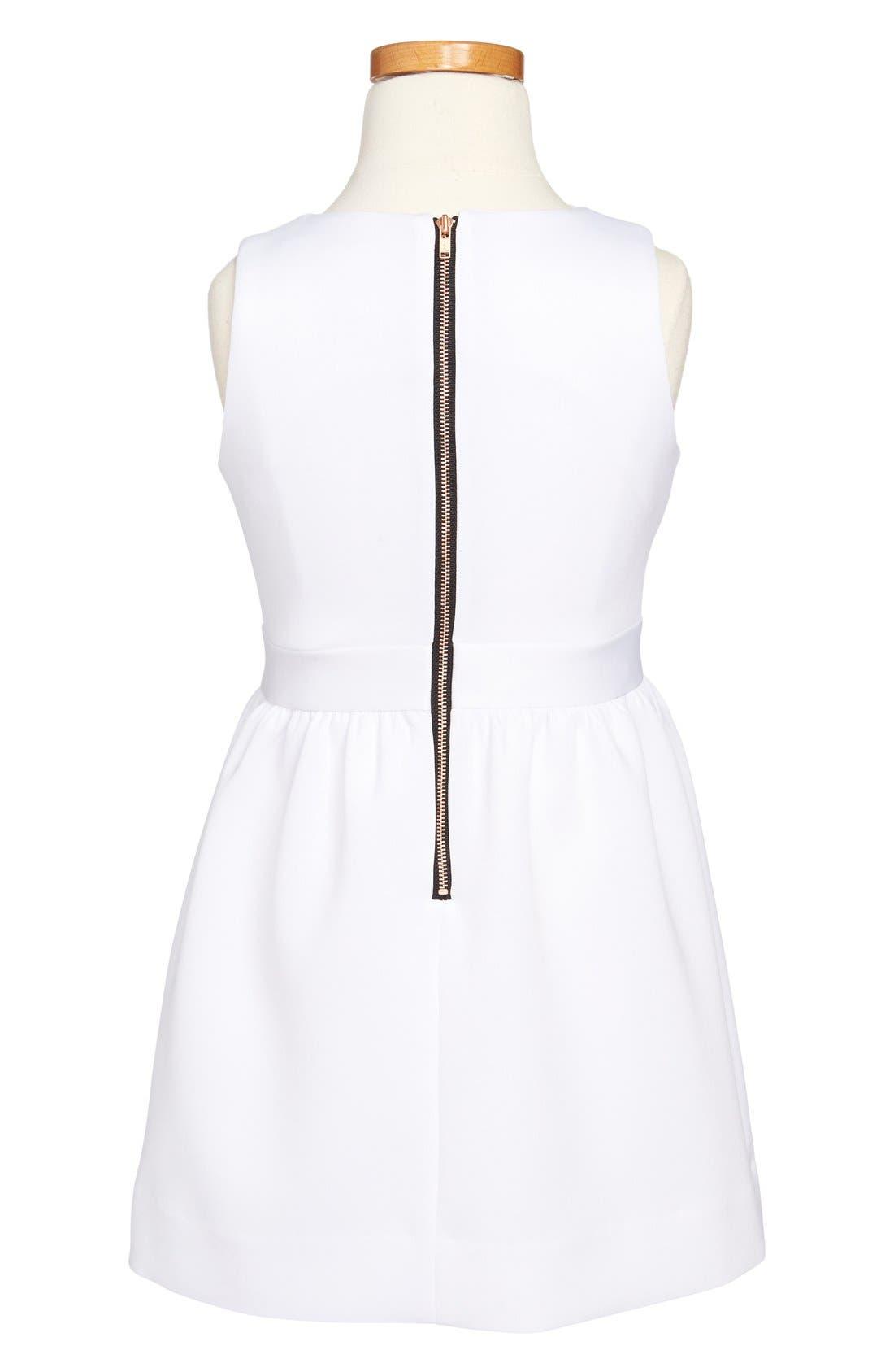Alternate Image 2  - Milly Minis Sleeveless Dress (Toddler Girls & Big Girls)