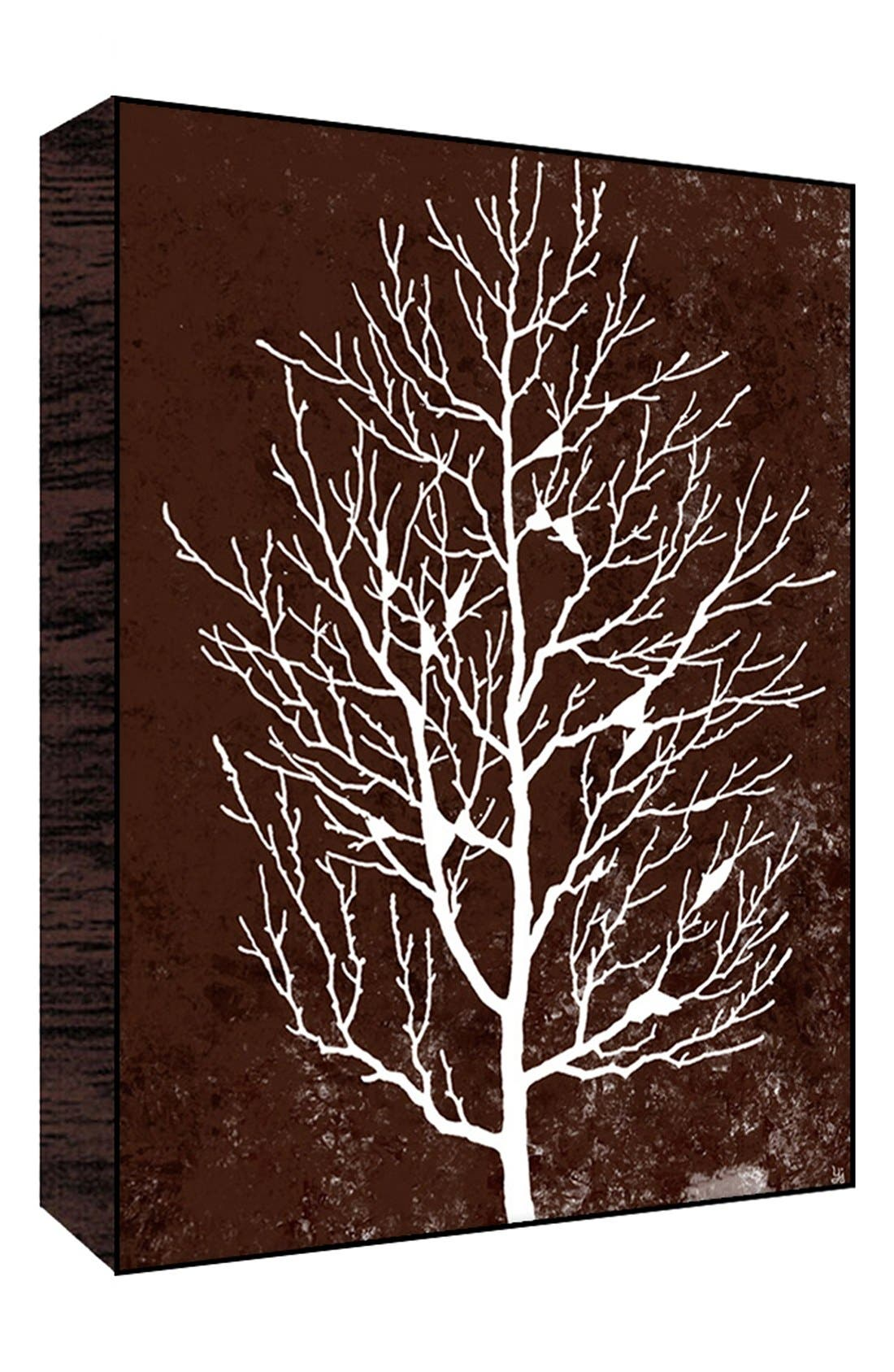 Alternate Image 1 Selected - Green Leaf Art 'Winter Tree on Brown I' Wall Art