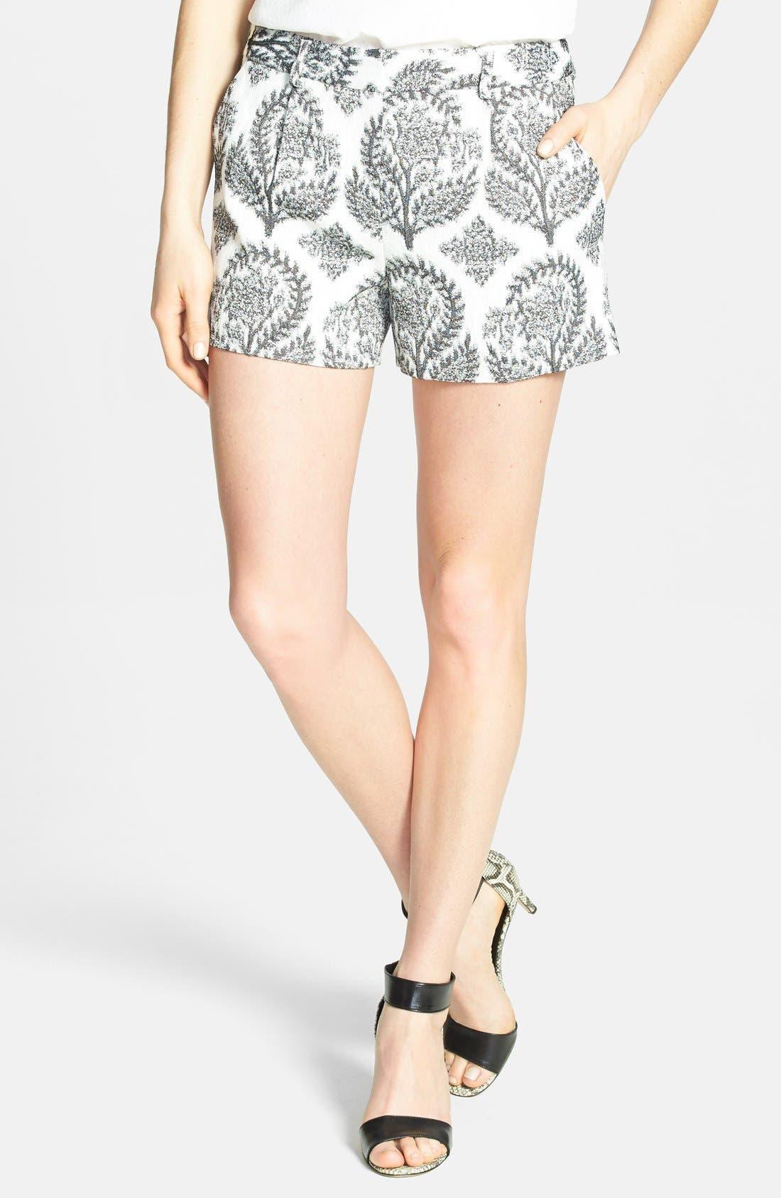 Main Image - Diane von Furstenberg 'Naples' Floral Jacquard Shorts