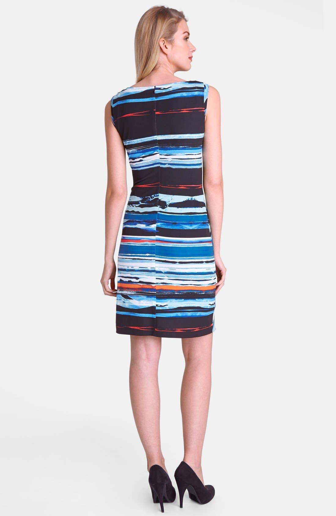 Alternate Image 2  - Tahari Print Jersey Sheath Dress