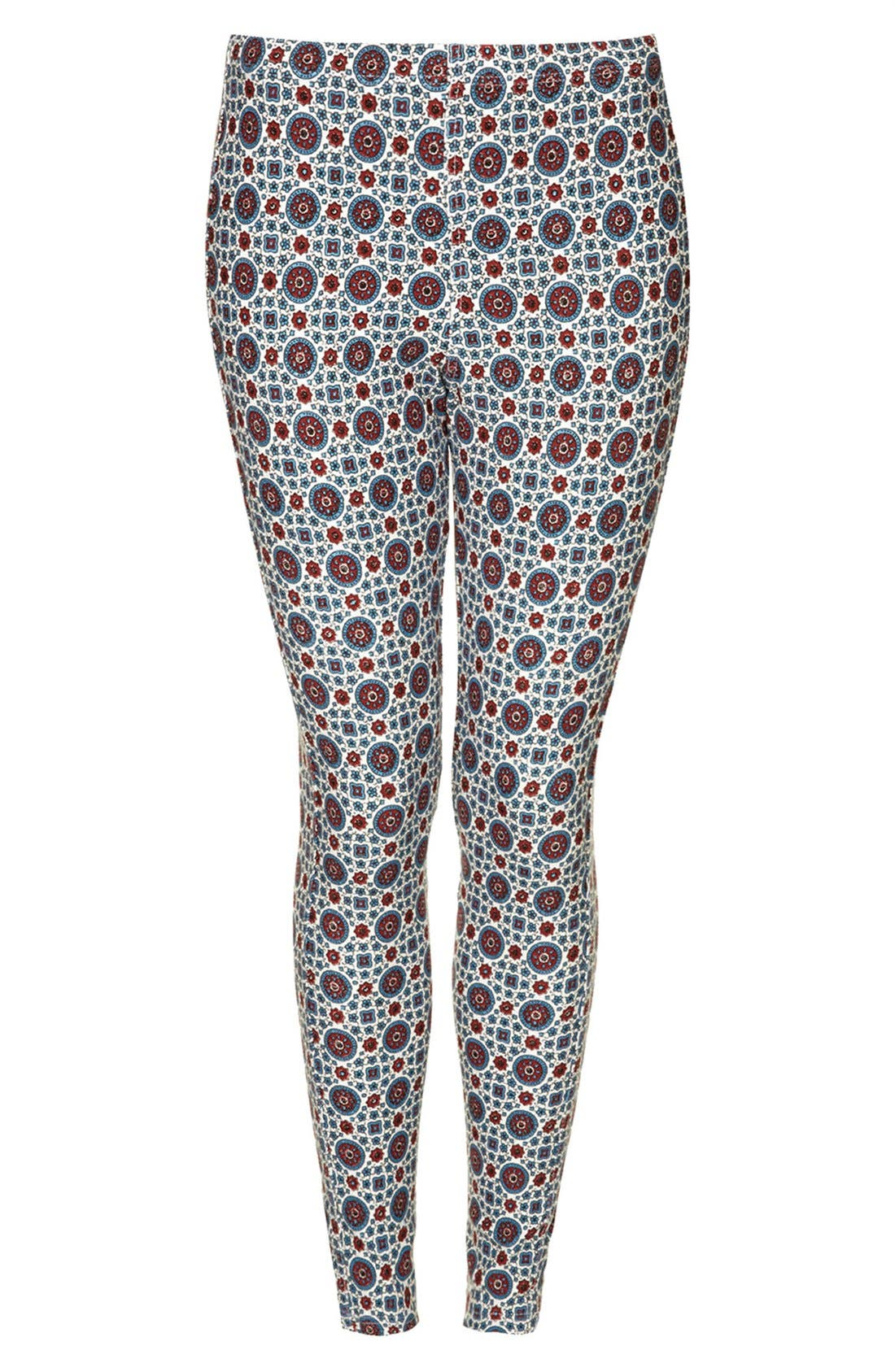 Alternate Image 3  - Topshop Print Denim Leggings