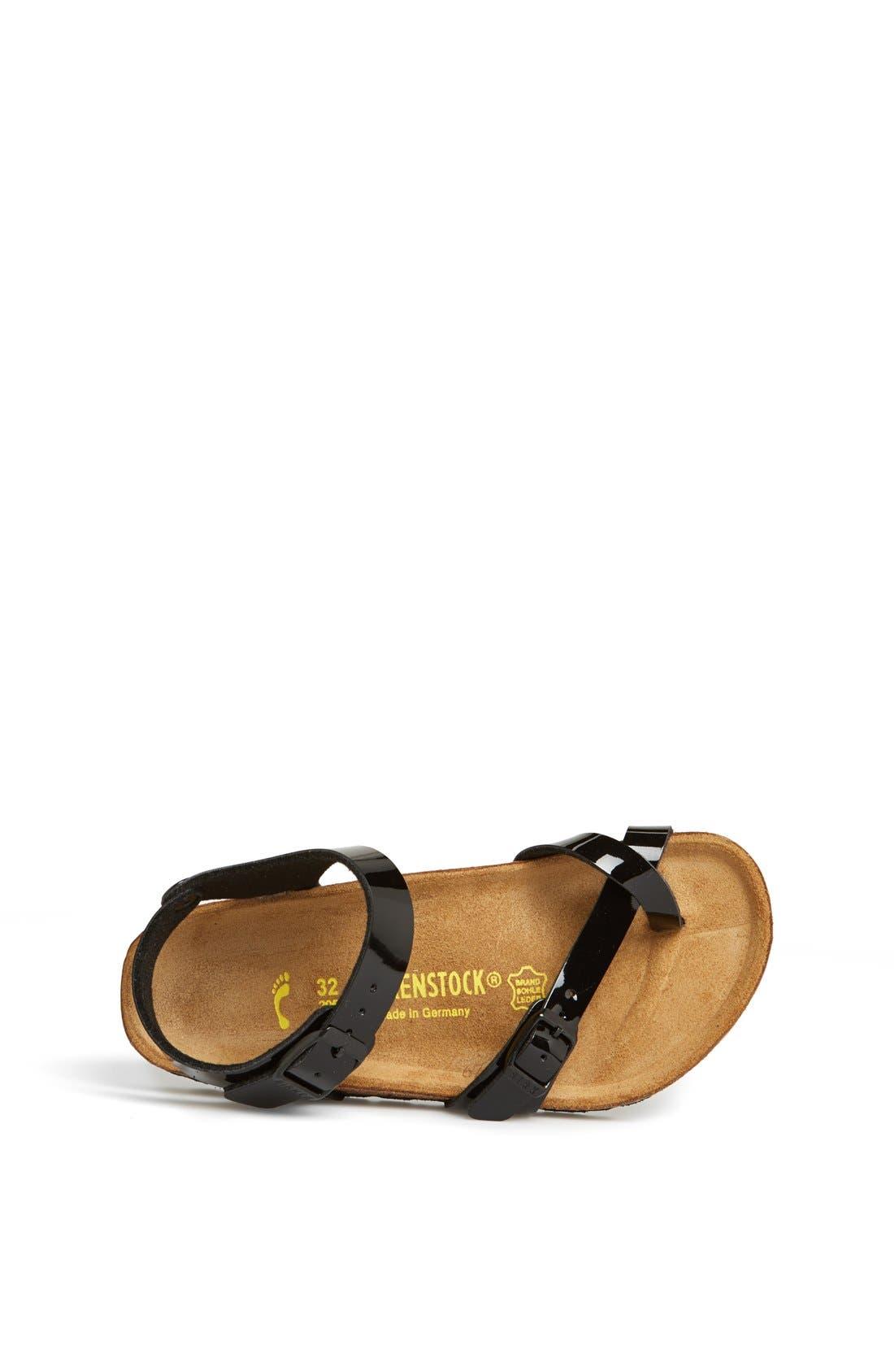 Alternate Image 3  - Birkenstock 'Taormina' Patent Sandal (Walker, Toddler & Little Kid)