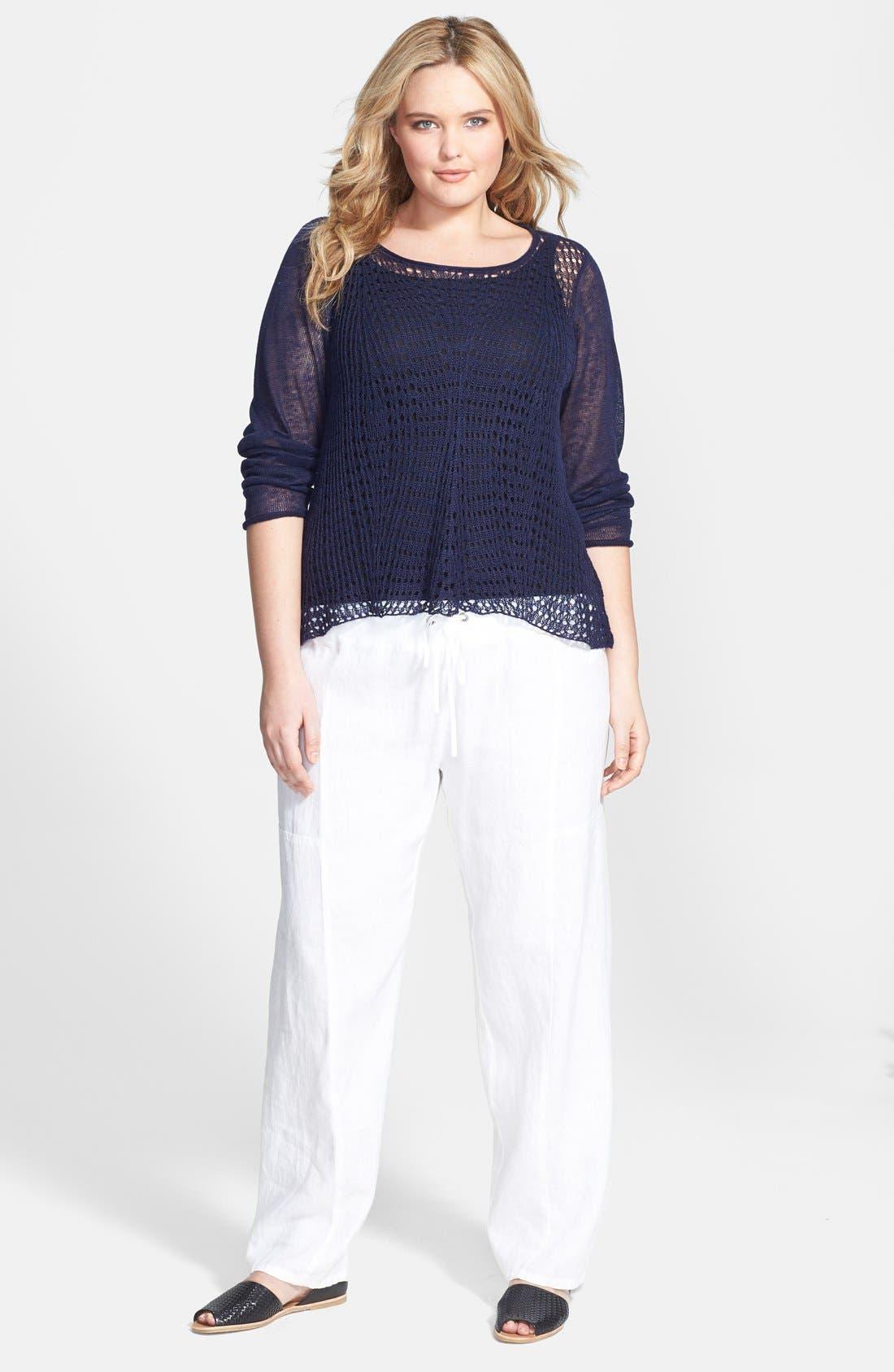 Alternate Image 4  - Eileen Fisher Organic Linen Wide Leg Pants