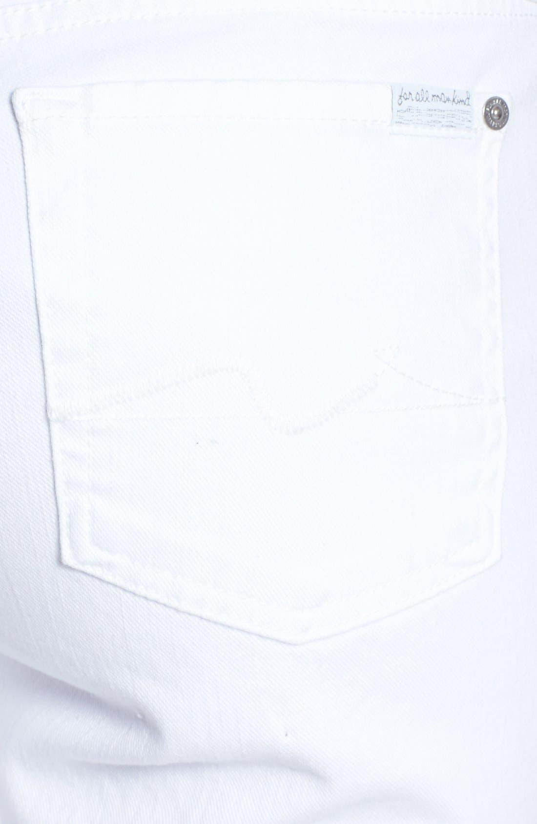 Alternate Image 3  - 7 For All Mankind® Denim Bermuda Shorts (Clean White)