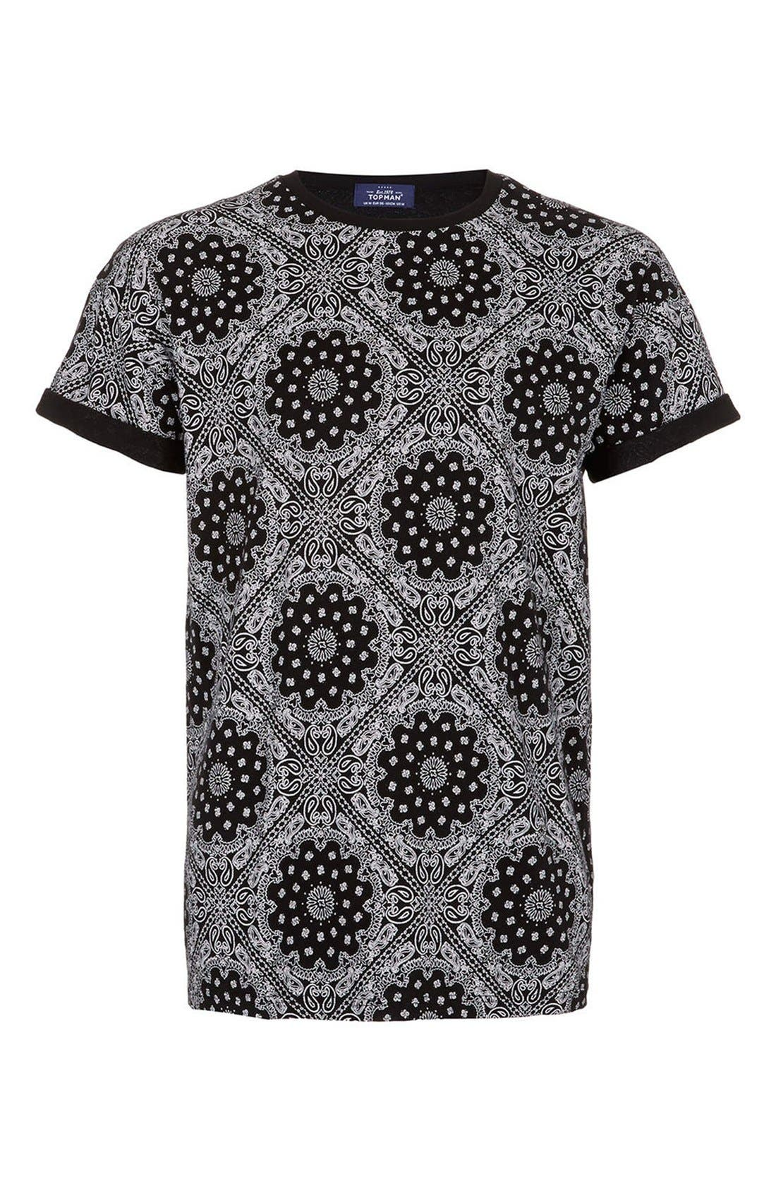 Alternate Image 1 Selected - Topman Bandana Print Cotton Tee