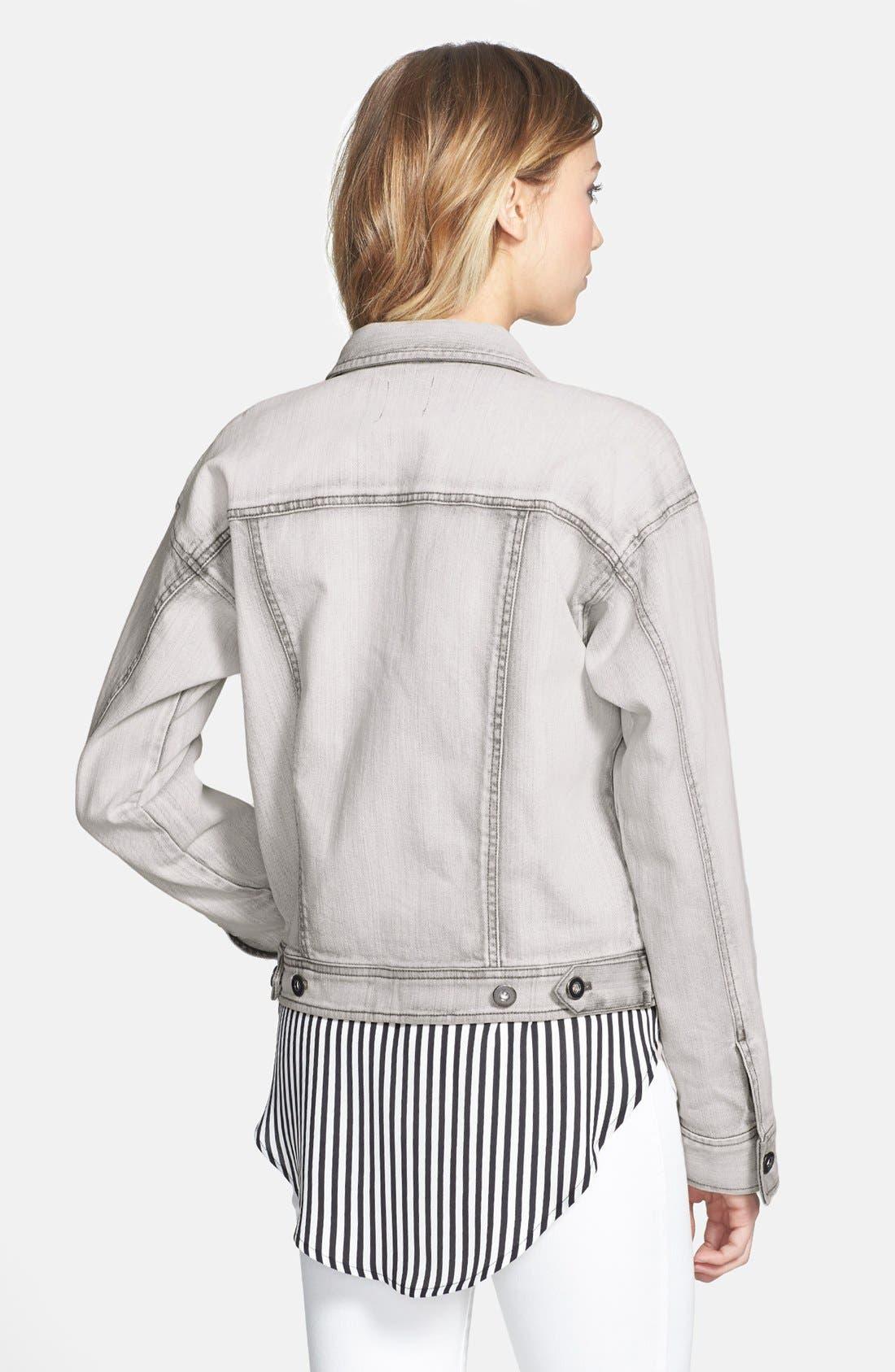 Alternate Image 2  - Leith 'Wedge' Denim Jacket