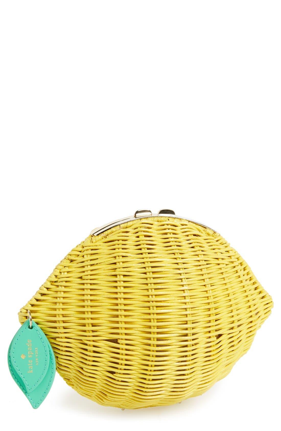 Main Image - kate spade new york 'vita riva' wicker lemon crossbody bag