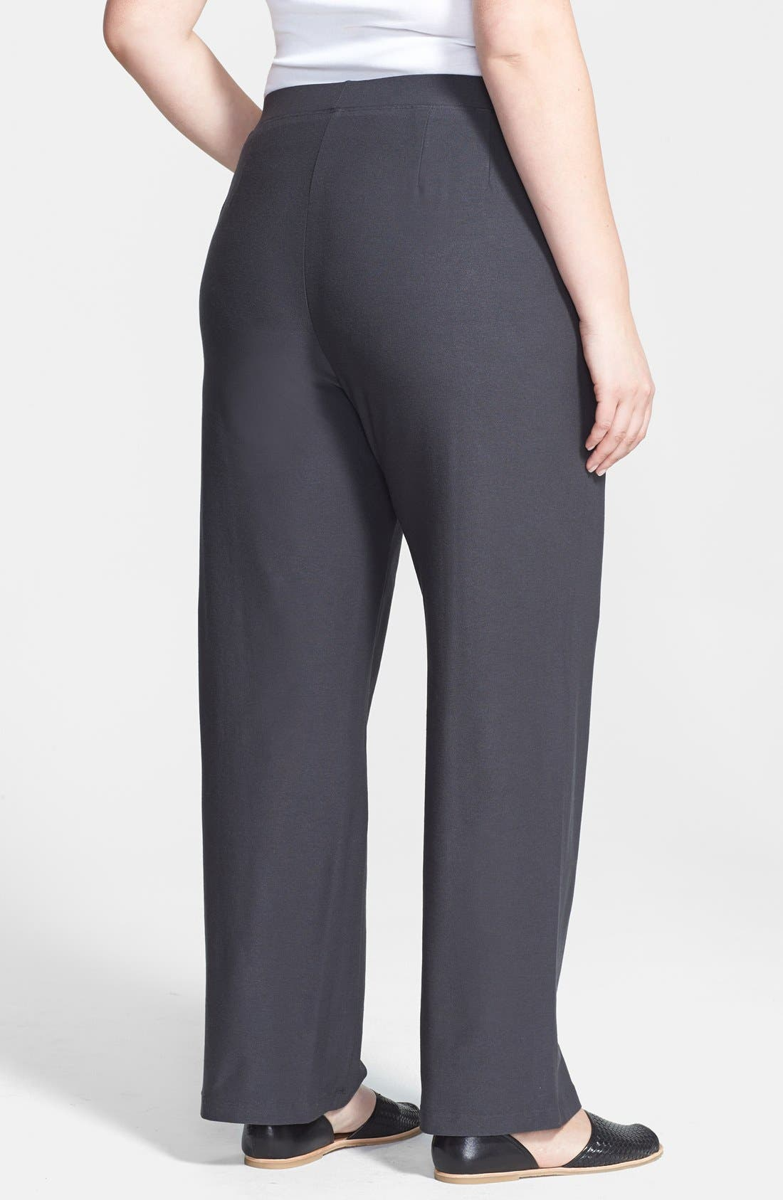 Alternate Image 2  - Eileen Fisher Straight Leg Pants (Plus Size)