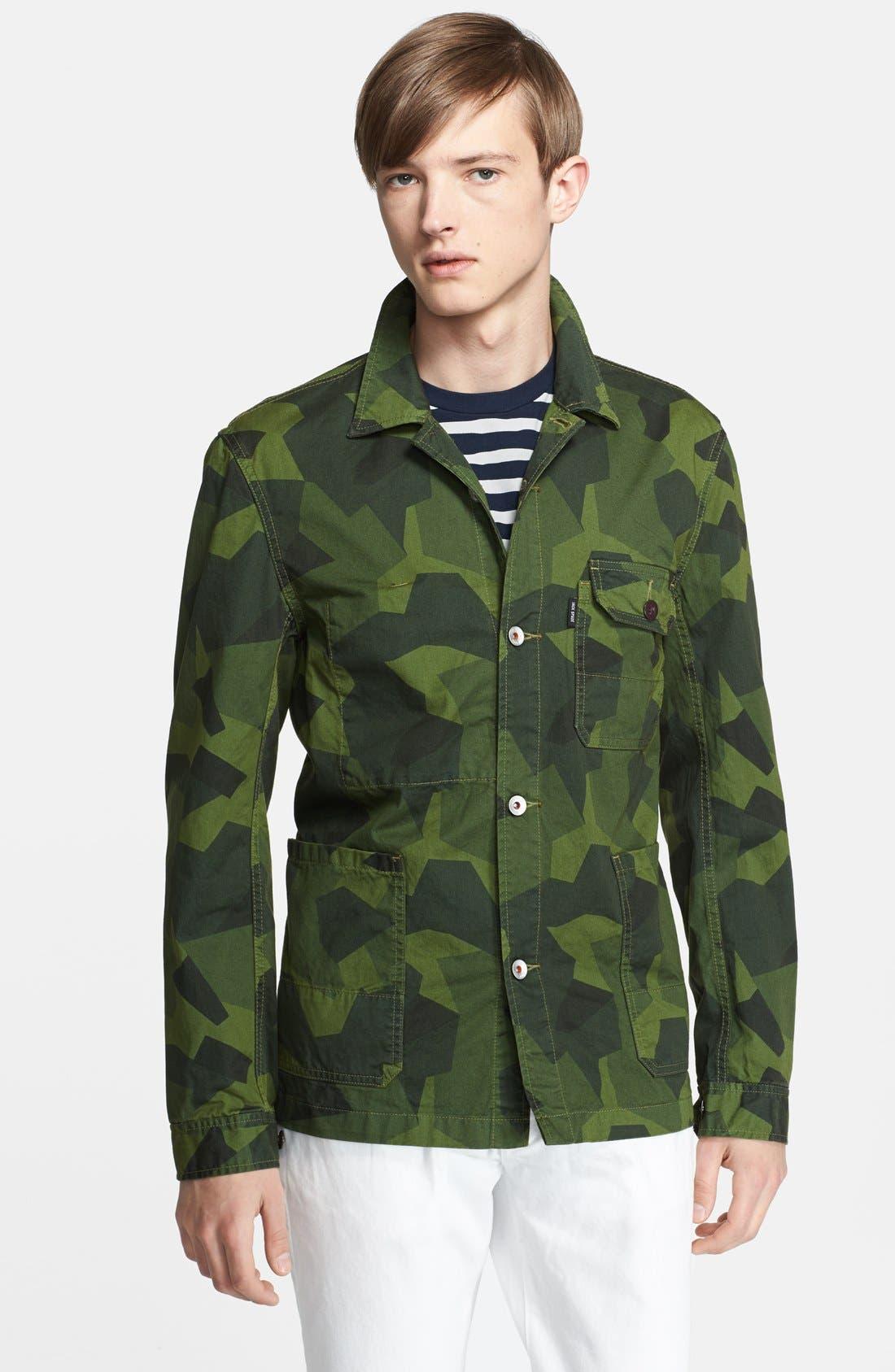 Alternate Image 1 Selected - Jack Spade 'Buckner' Camo Short Jacket