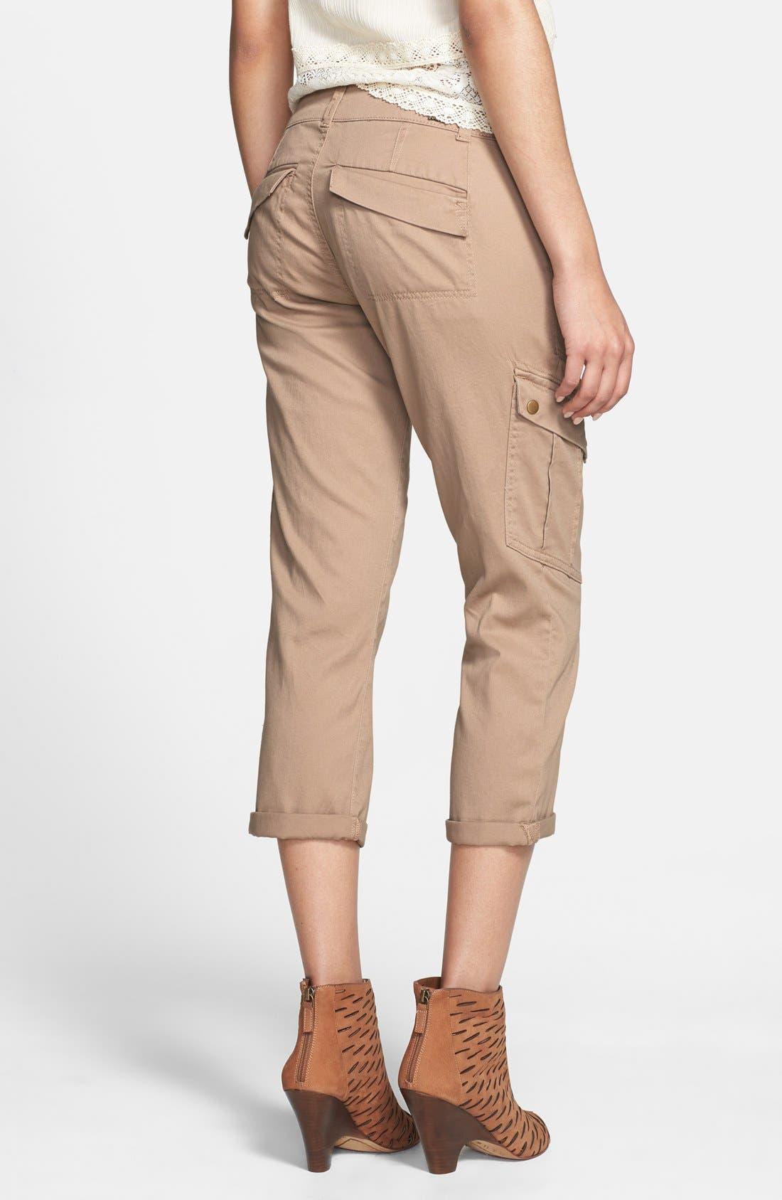 Alternate Image 2  - Jolt Cargo Pocket Crop Pants (Juniors) (Online Only)