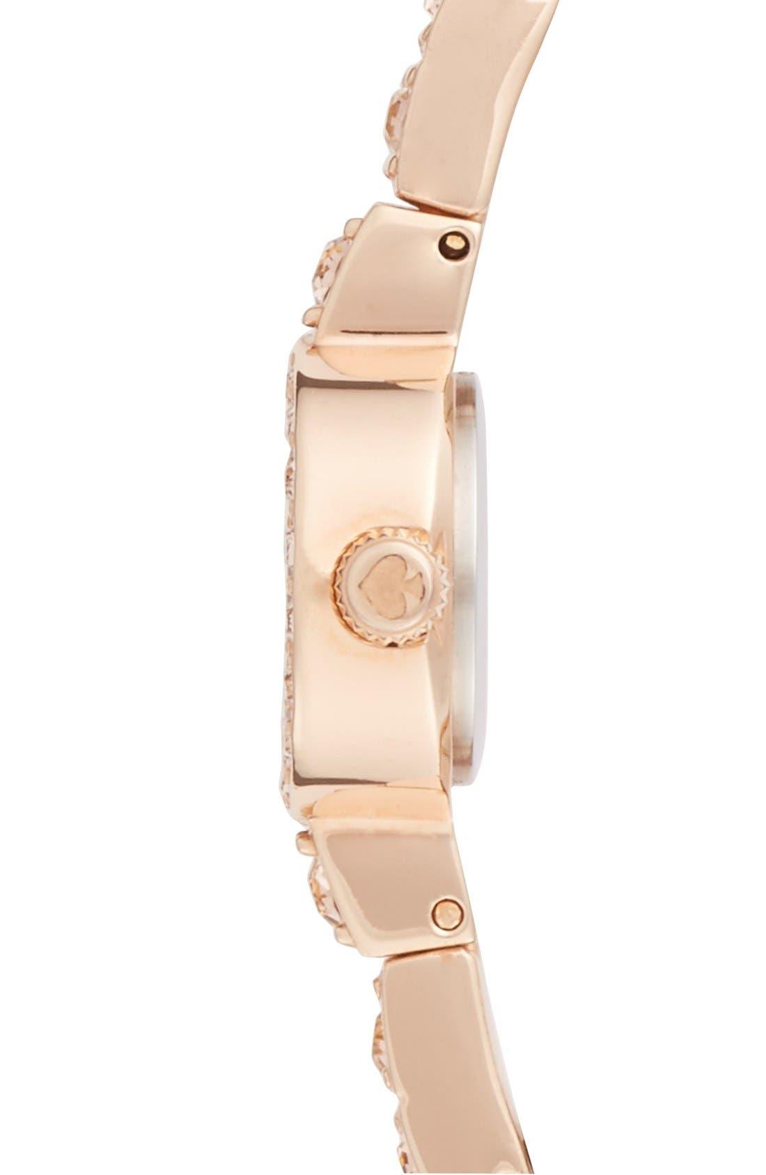 Alternate Image 4  - kate spade new york 'pierre' pavé bracelet watch, 10mm