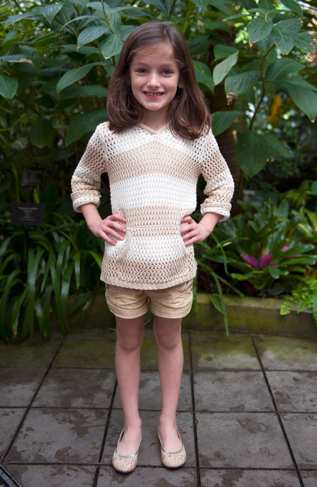 Alternate Image 2  - Peek 'Marin' Hoodie (Toddler Girls, Little Girls & Big Girls)